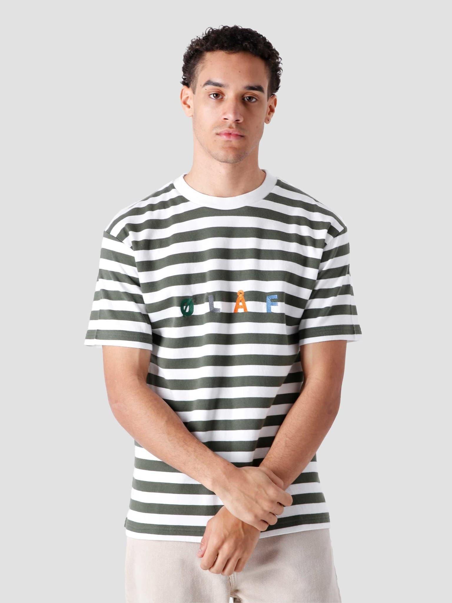 Stripe Sans T-Shirt White Sage