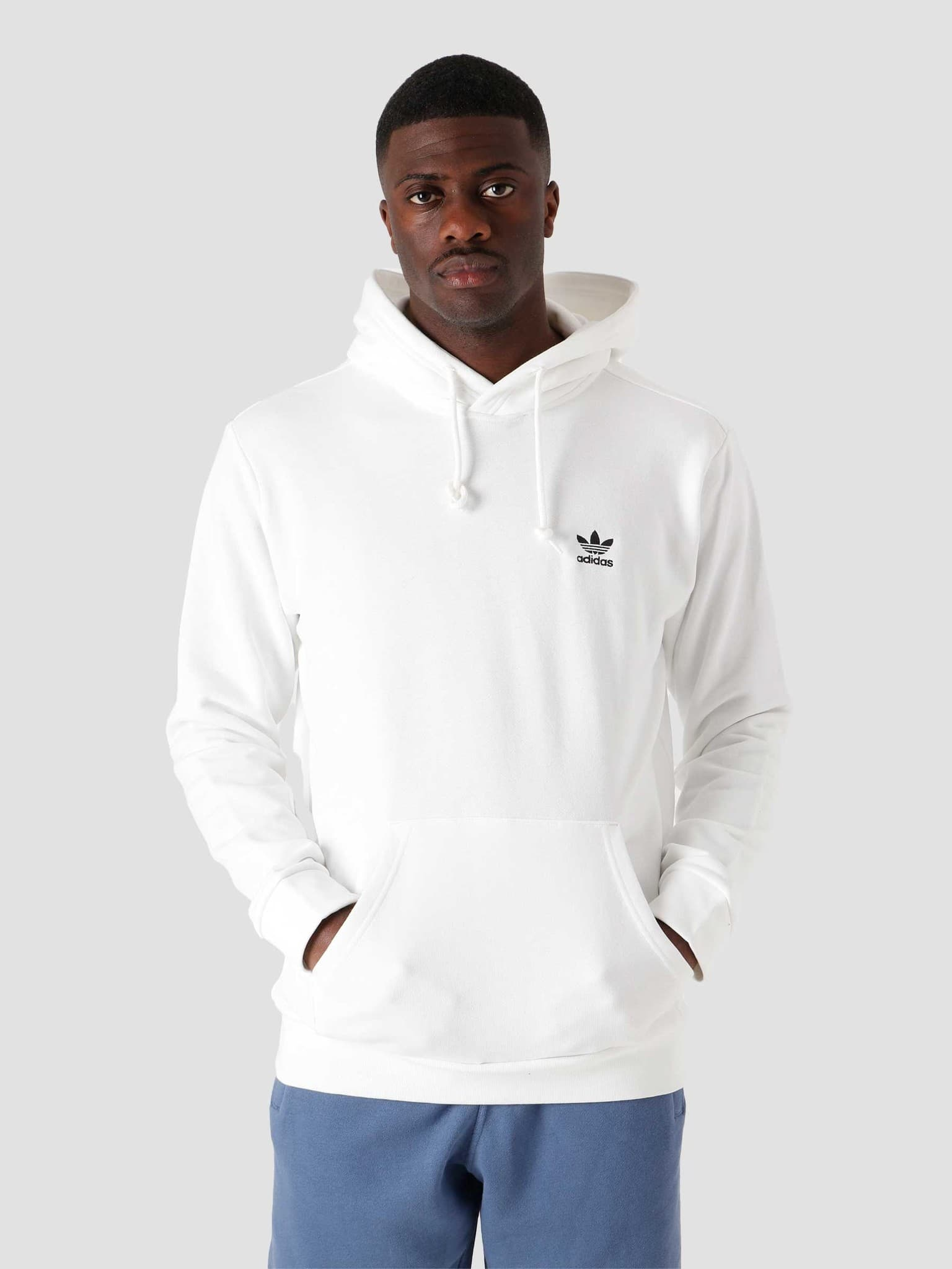 Essential Hoodie White Black GP0931