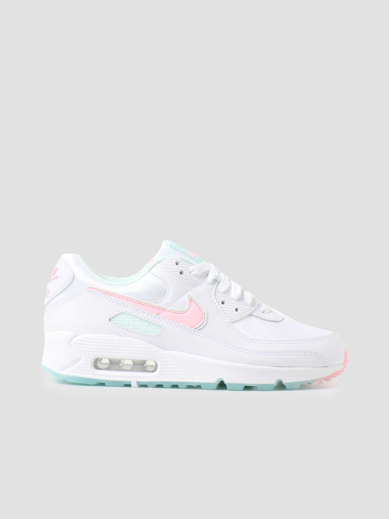 W Air Max 90 White Arctic Punch Barely Green DJ1493-100
