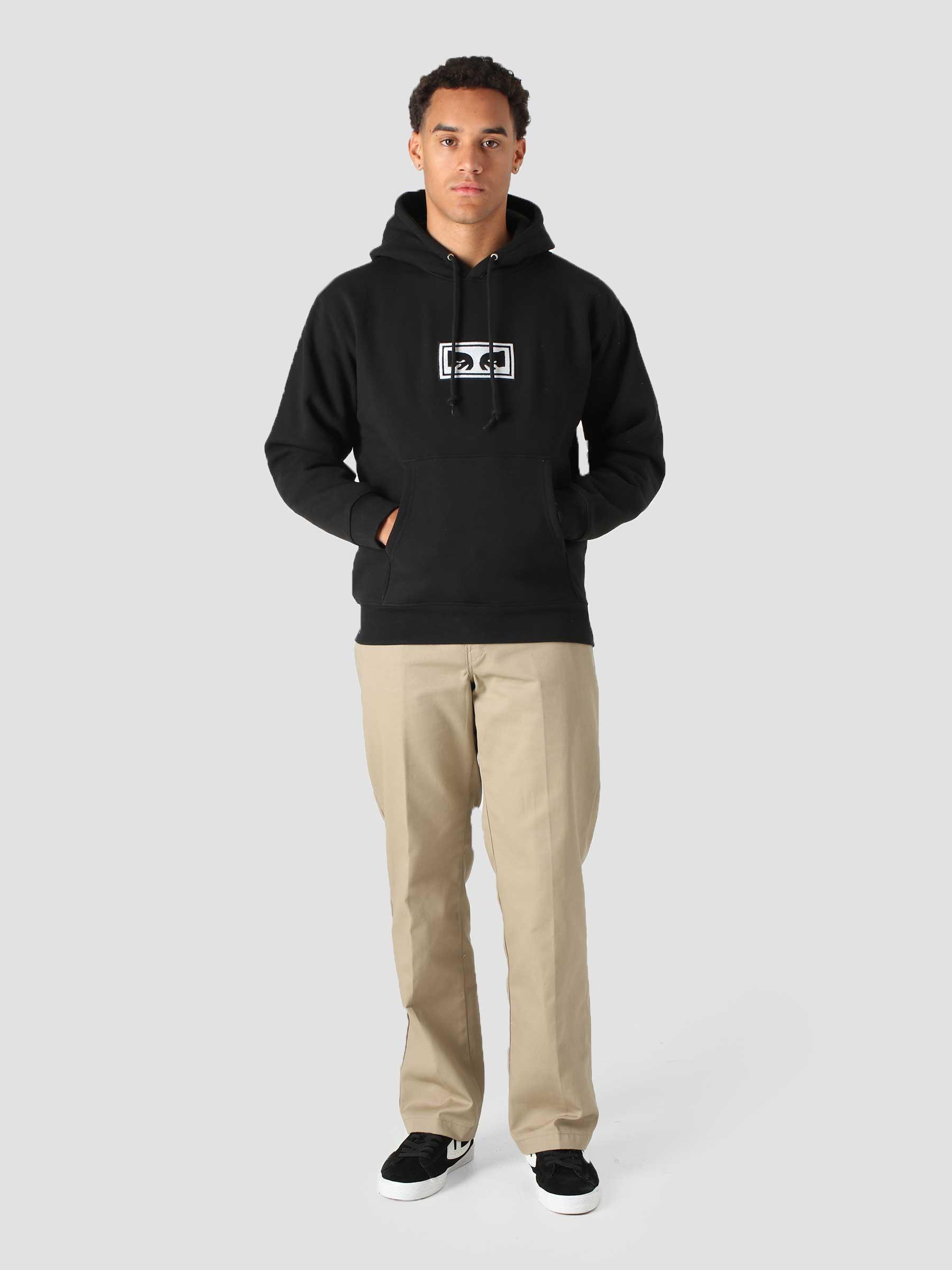 Eyes Logo Hood Hood Fleece (Embellished) Black 112470134