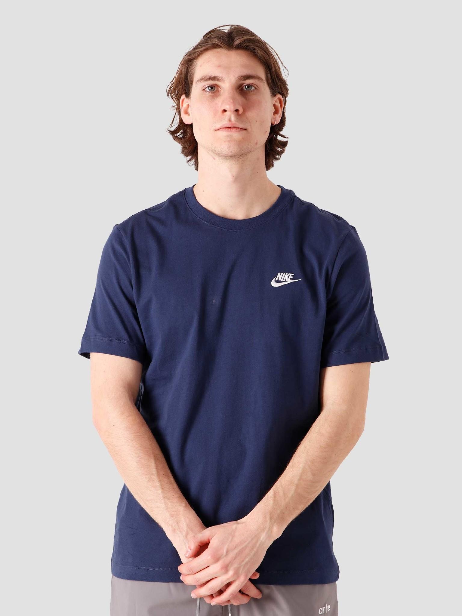 M Nsw Club T-Shirt Midnight Navy White AR4997-410