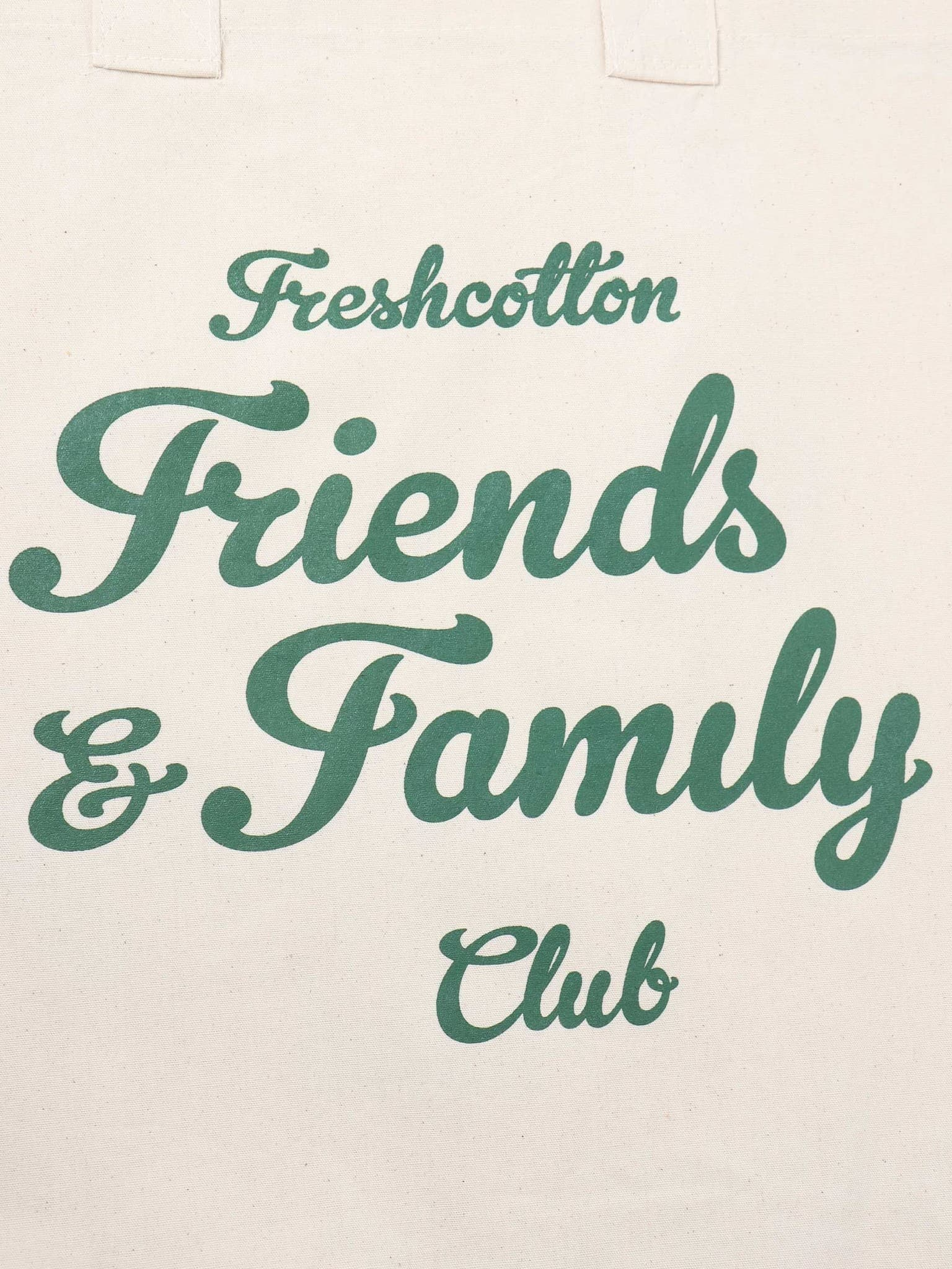 Freshcotton Friends & Family Tote Bag Natural