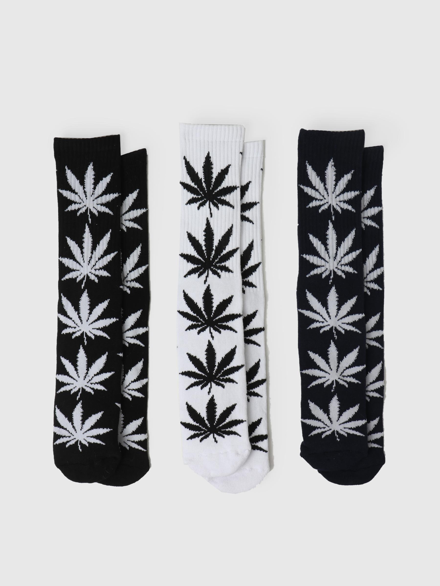 Essentials Plantlife Sock 3-Pack Black White Navy SK00465-BKWNV
