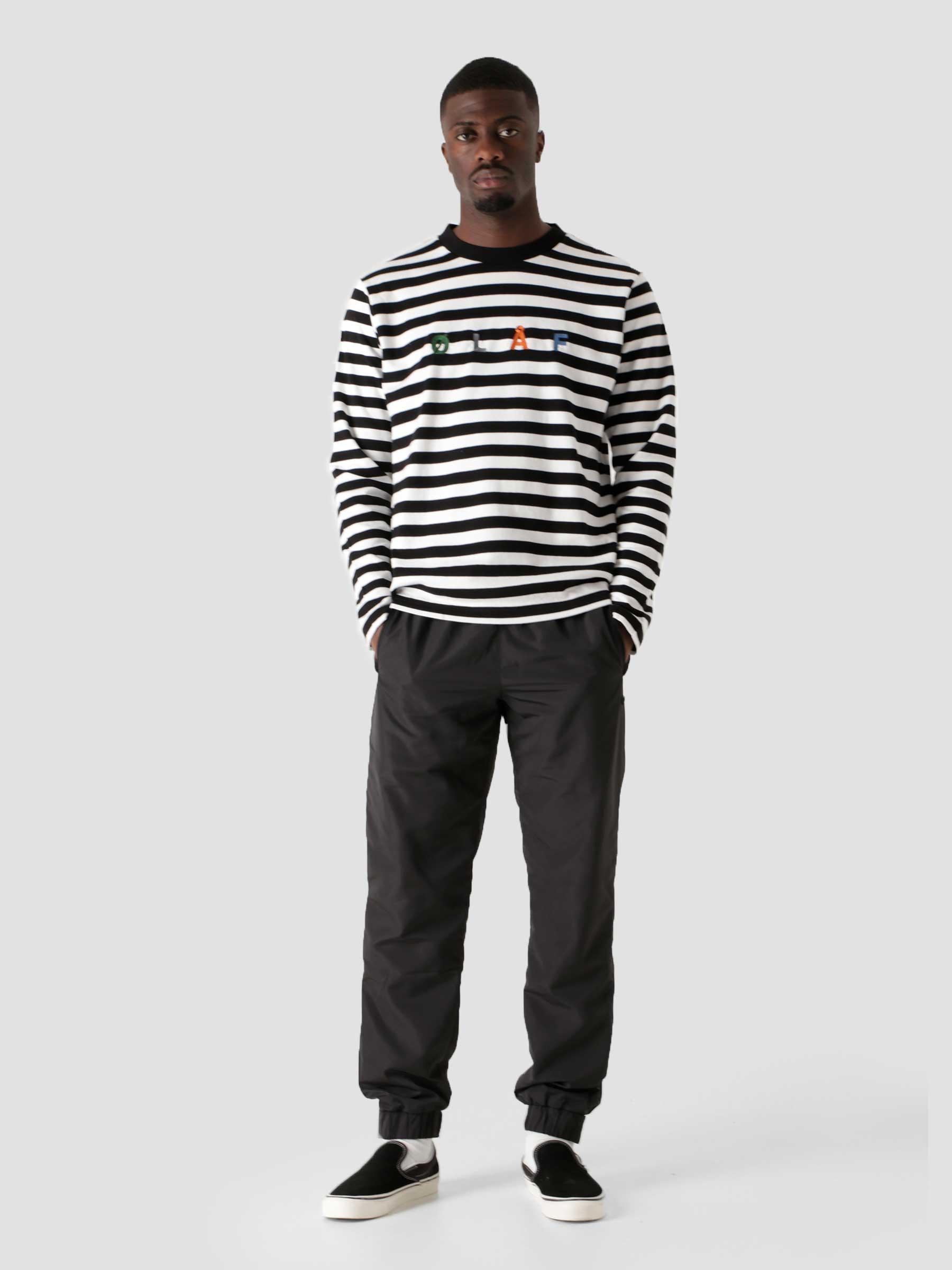 OLAF Stripe Sans Longsleeve White Black
