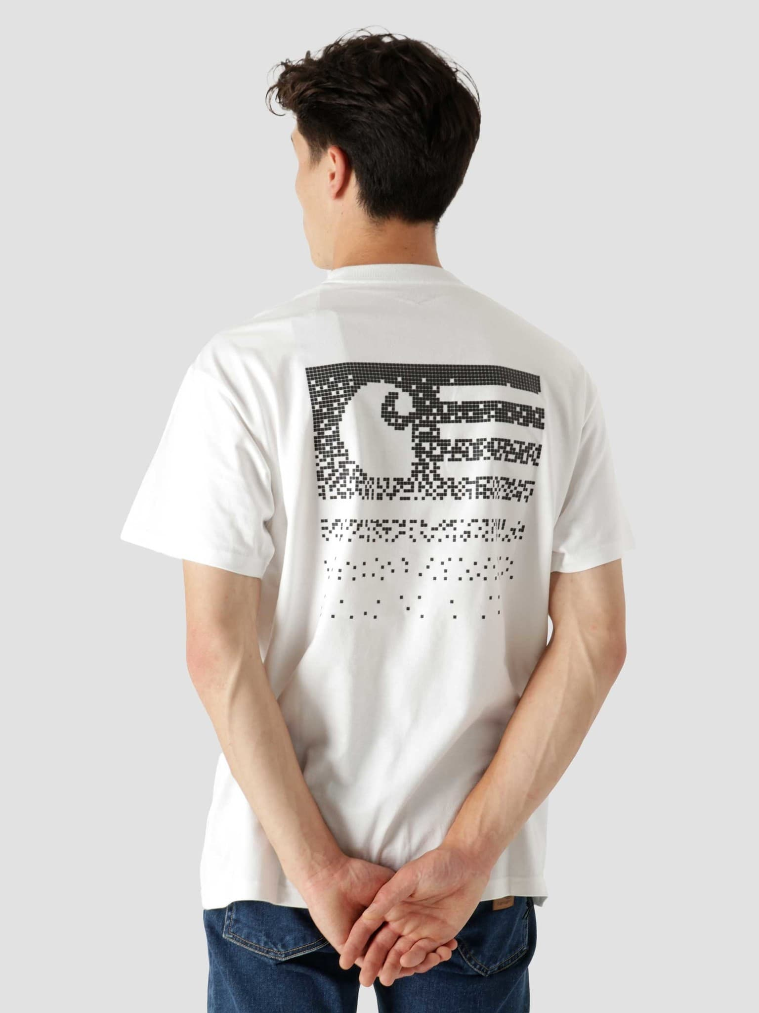 Fade State T-Shirt White Black I029607