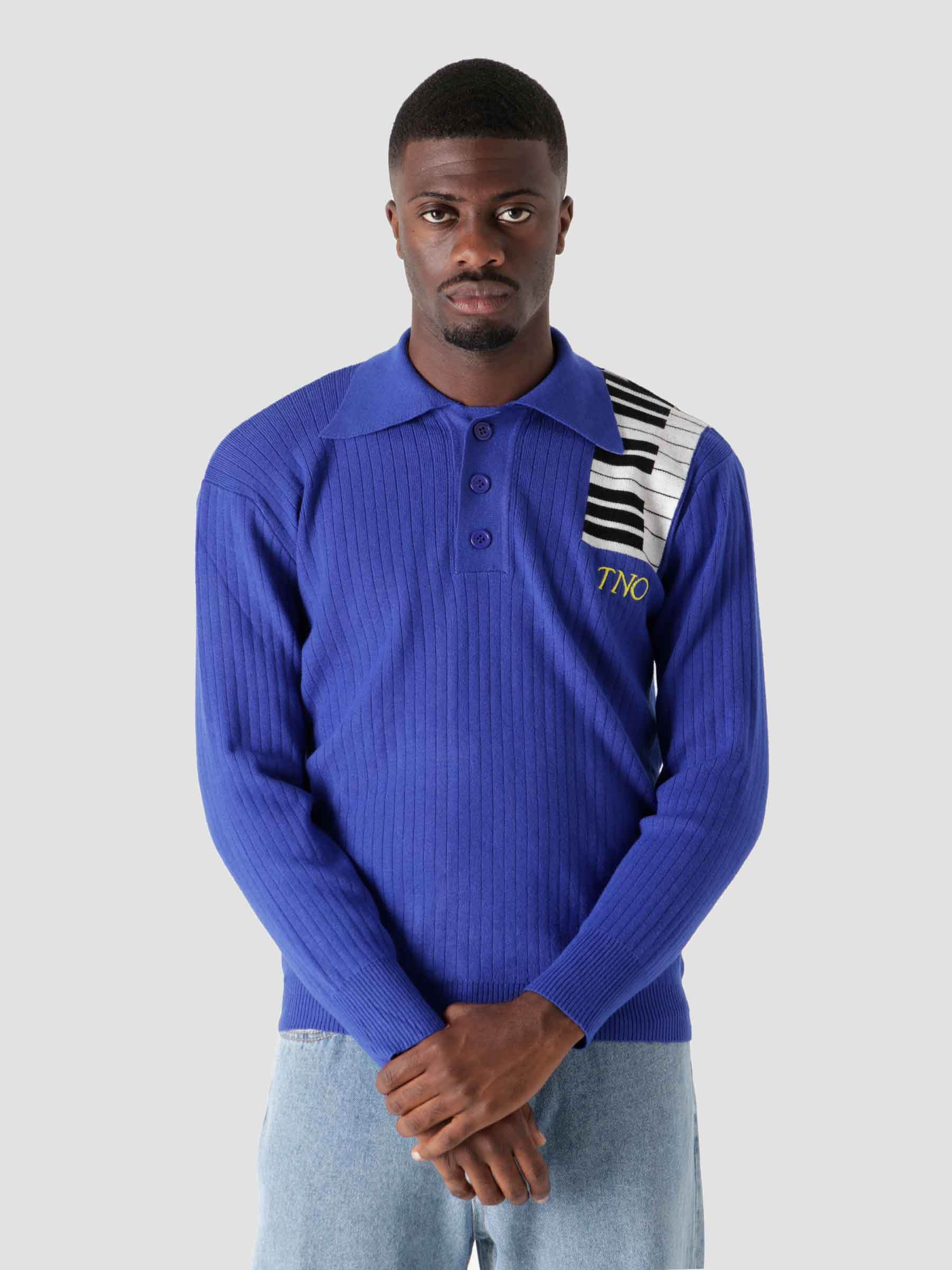 Piano Polo longsleeve Blue