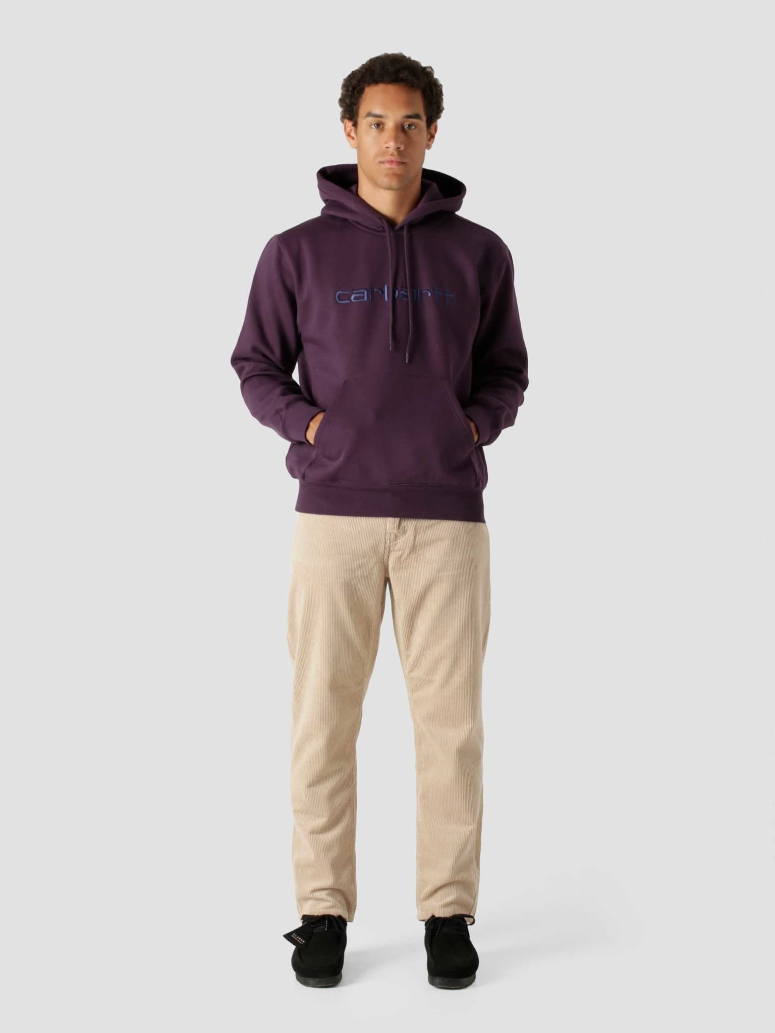 Hooded Carhartt Sweat Dark Iris Cold Viola I030230