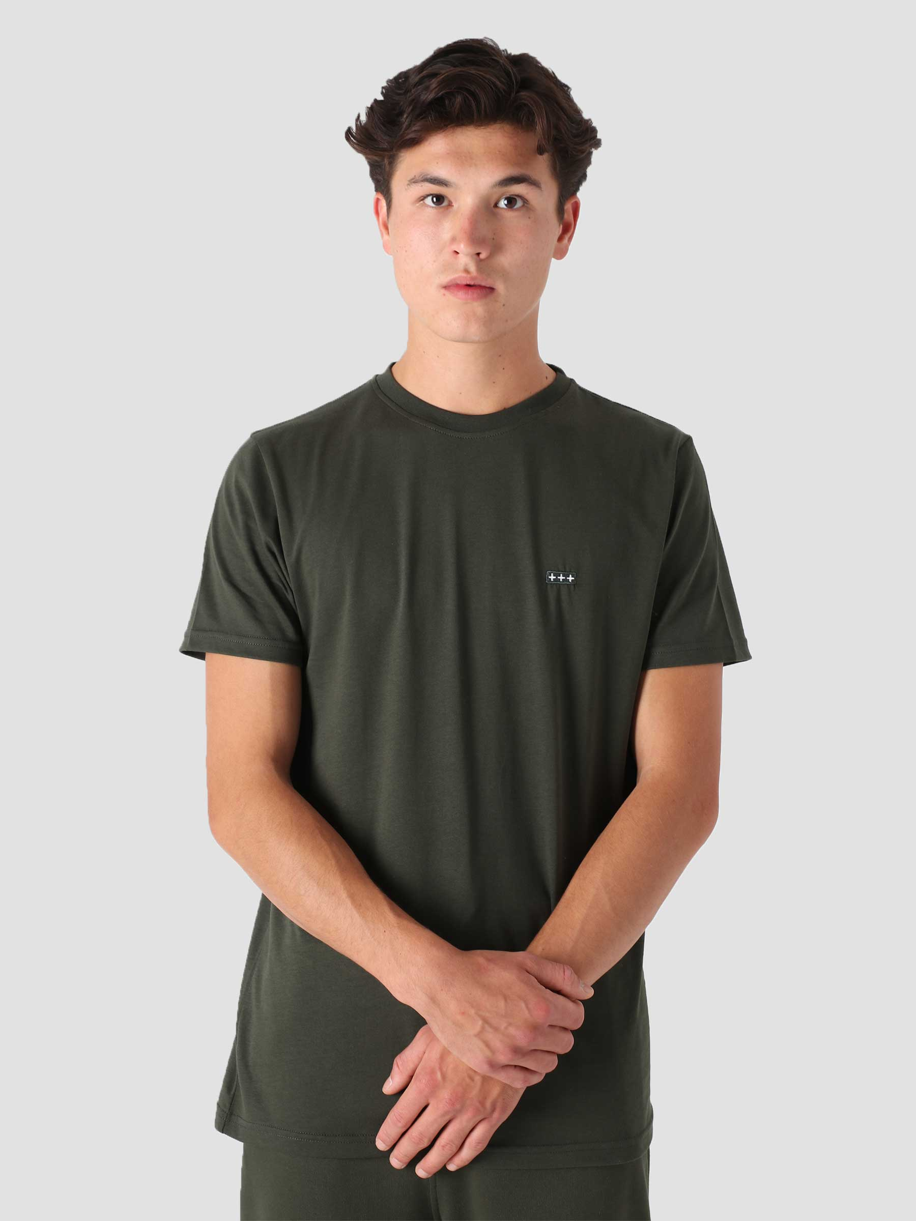 QB03 Patch Logo T-shirt Intense Olive