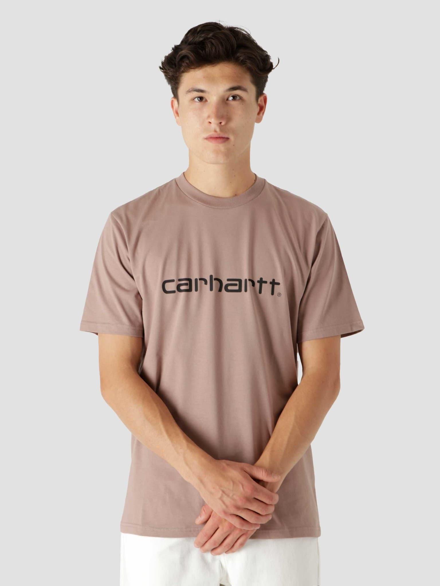 Script T-Shirt Earthy Pink Black I029915
