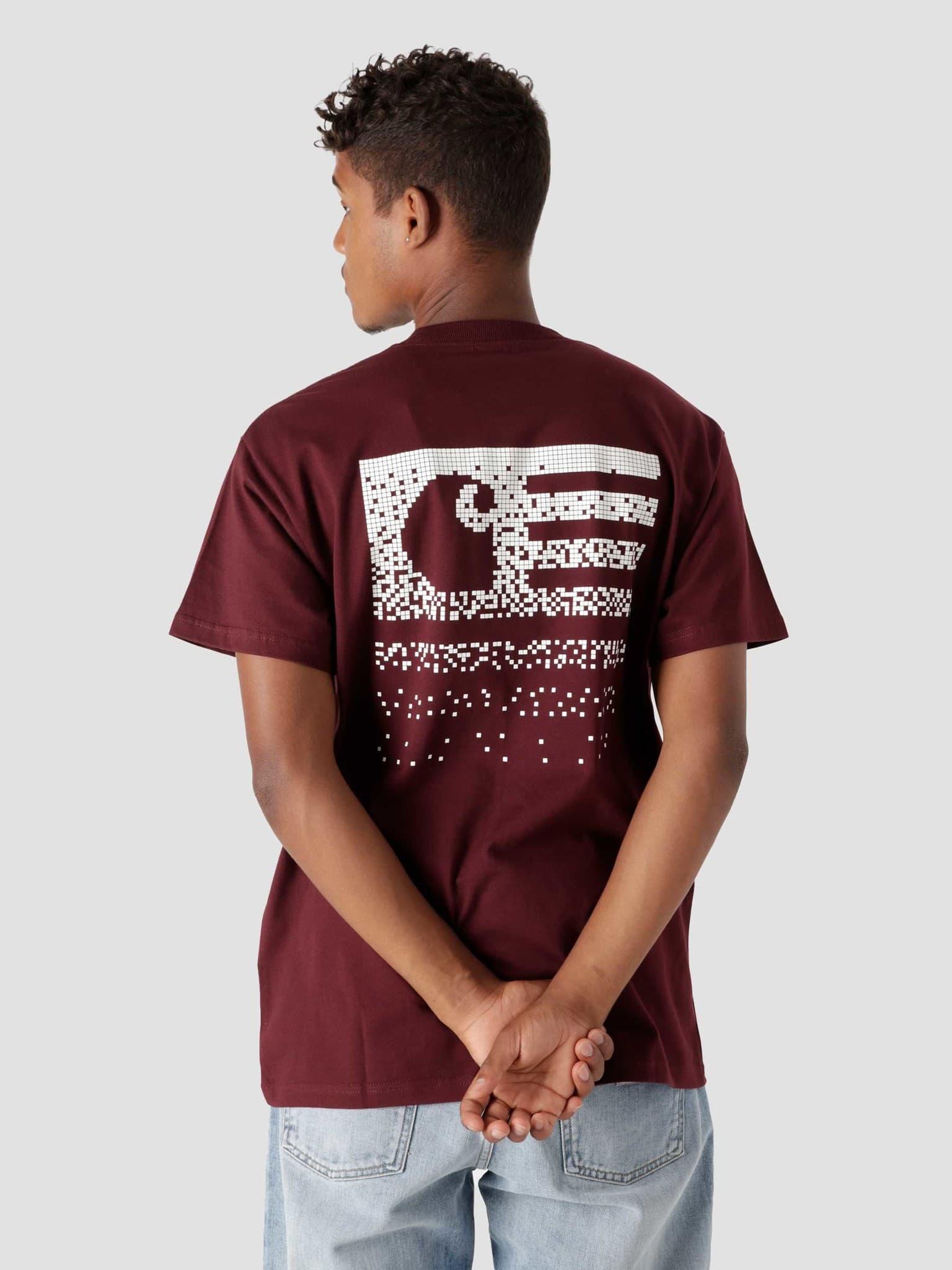 Fade State T-Shirt Wine White I029607