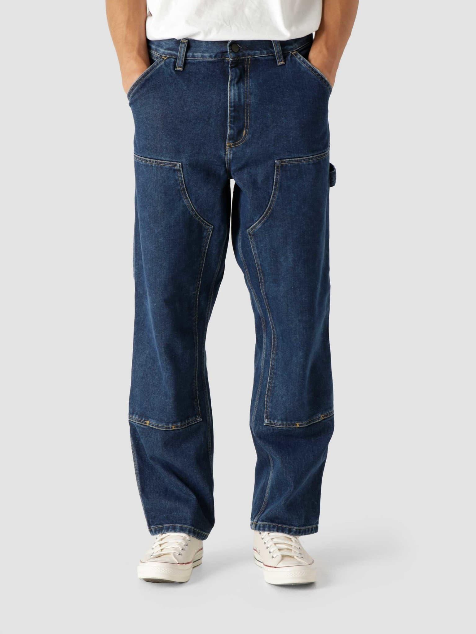 Double Knee Pant Blue Stone Washed I029206-106