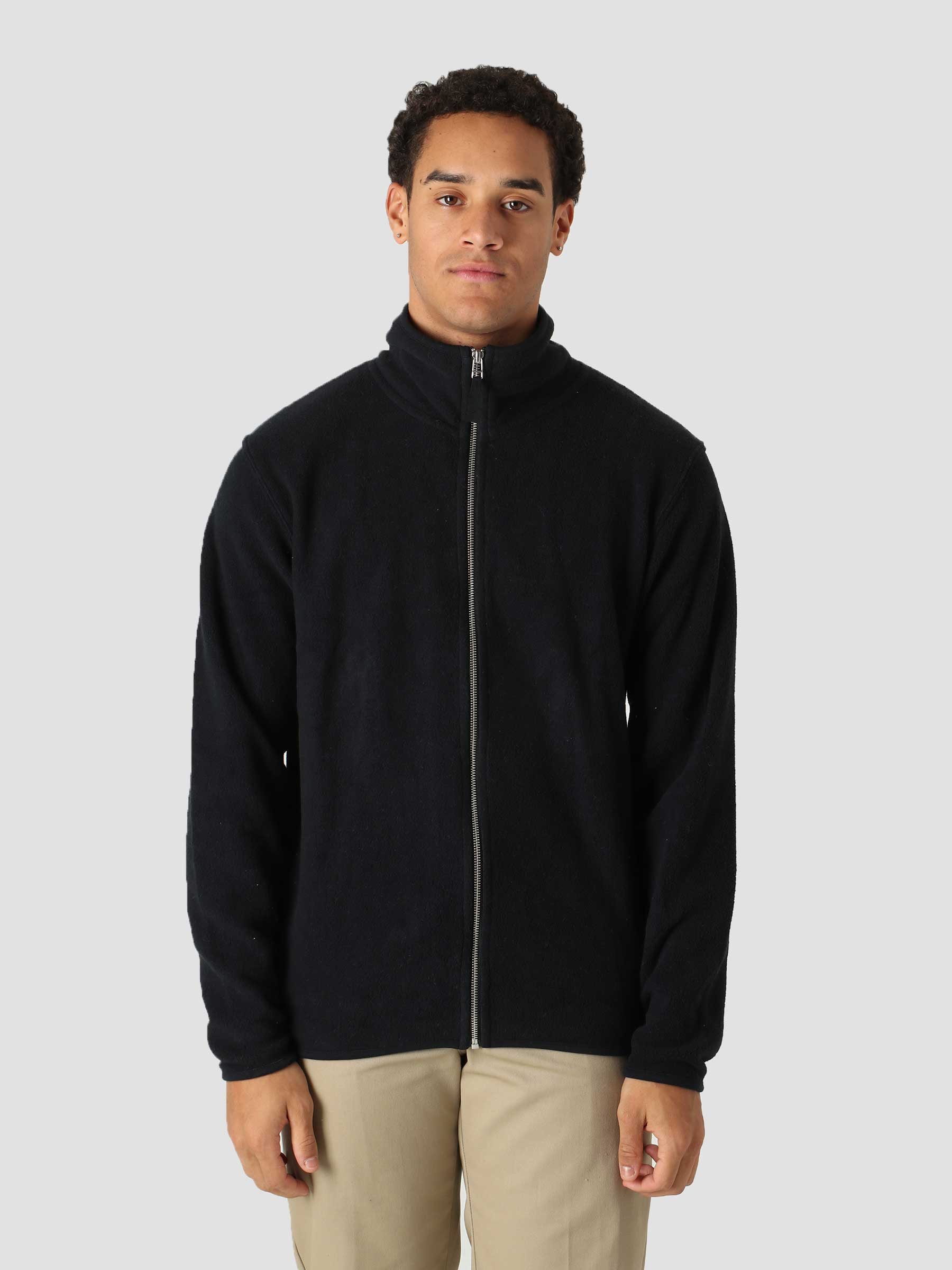 QB97 Full Zip Track Fleece Black