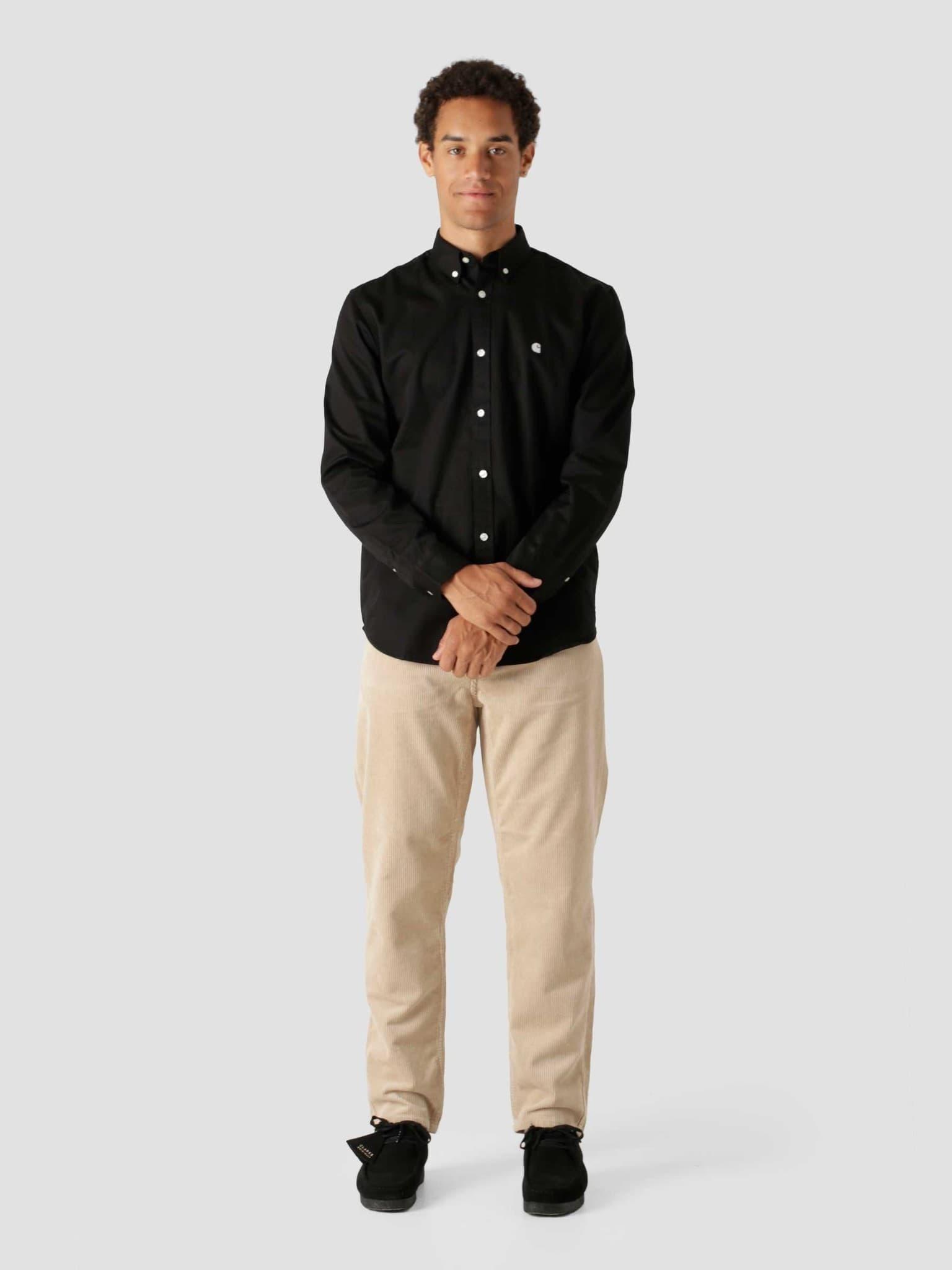 Longsleeve Madison Shirt Black Wax I023339