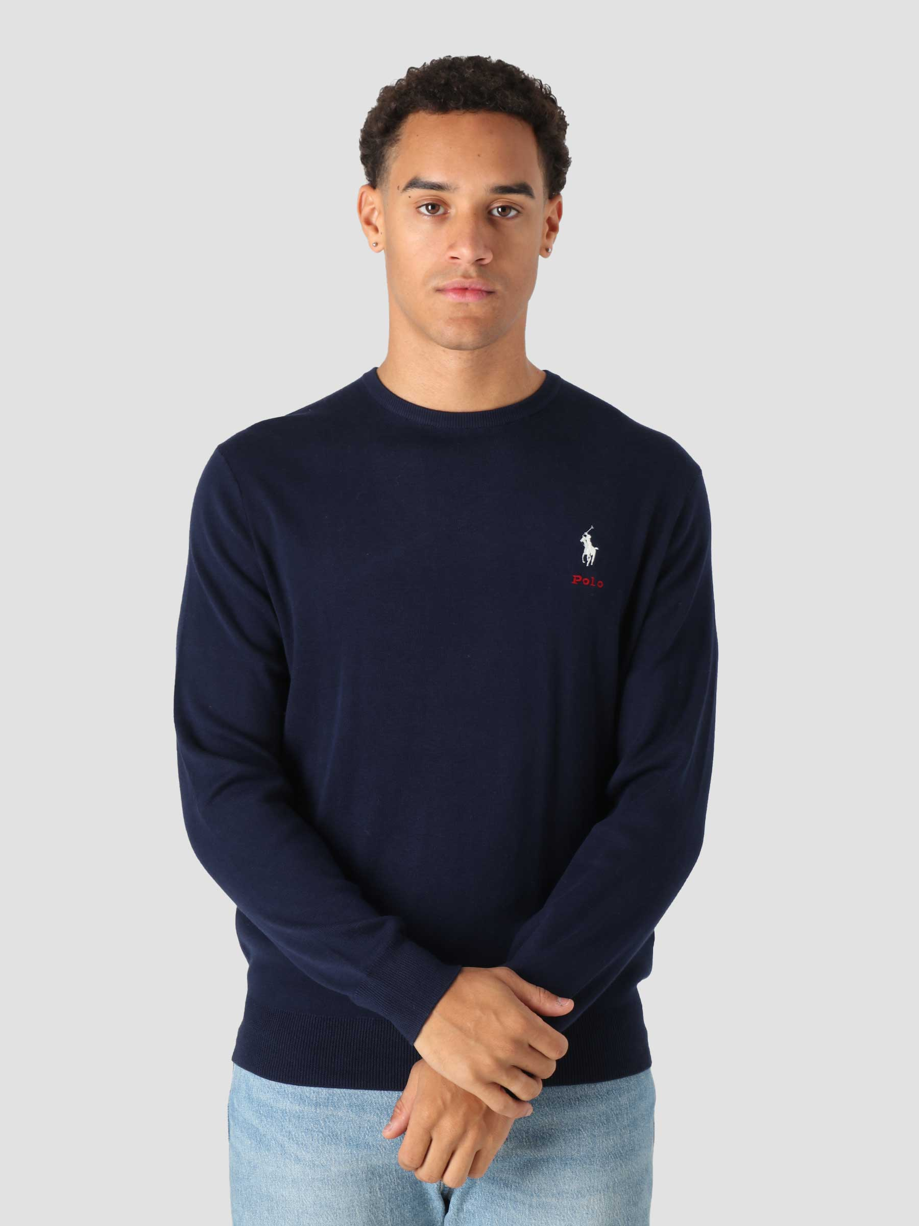 Cotton Long Sleeve Pullover Cruise Navy 710850117001