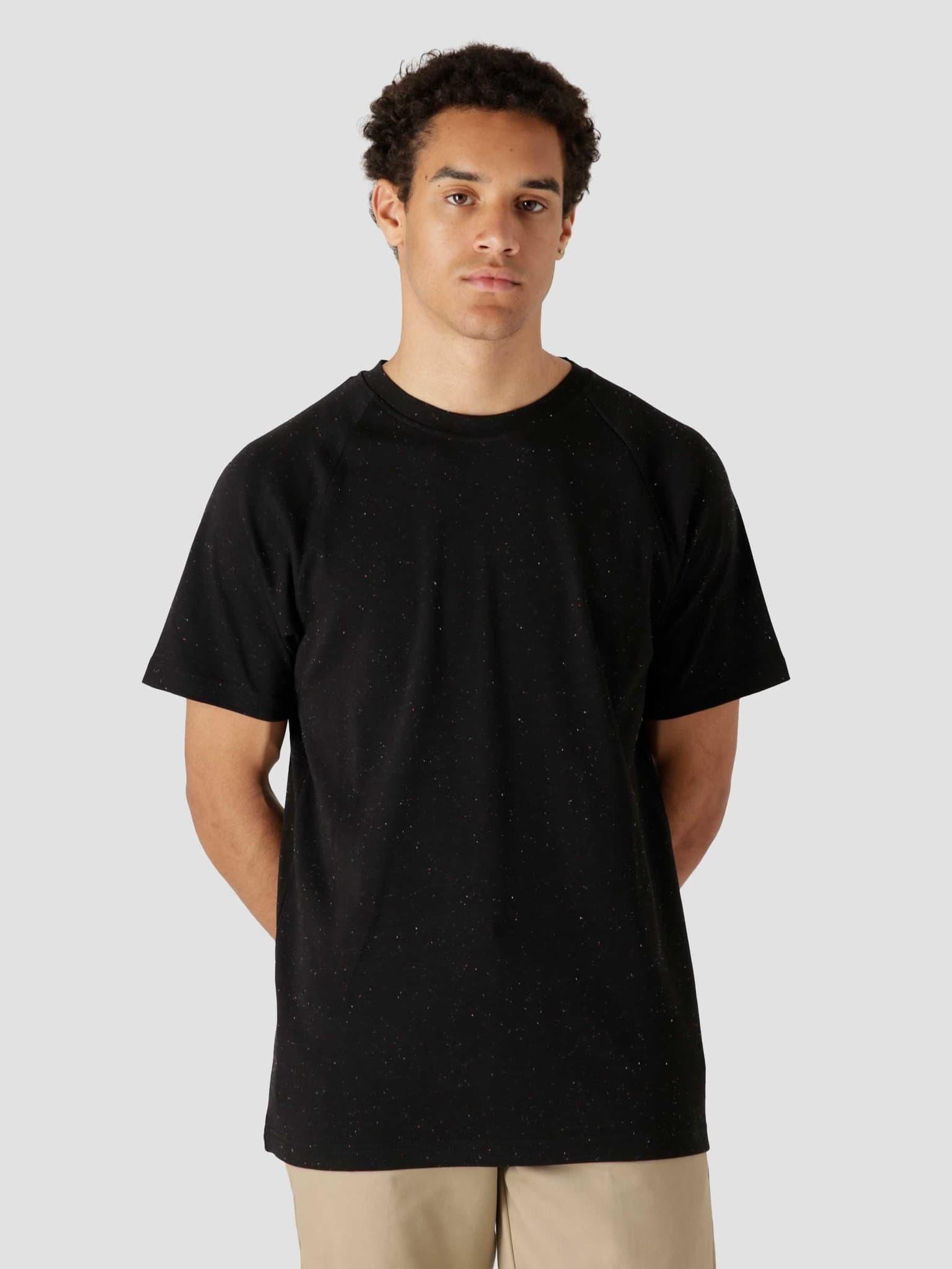 QB301 Speckle T-shirt Black