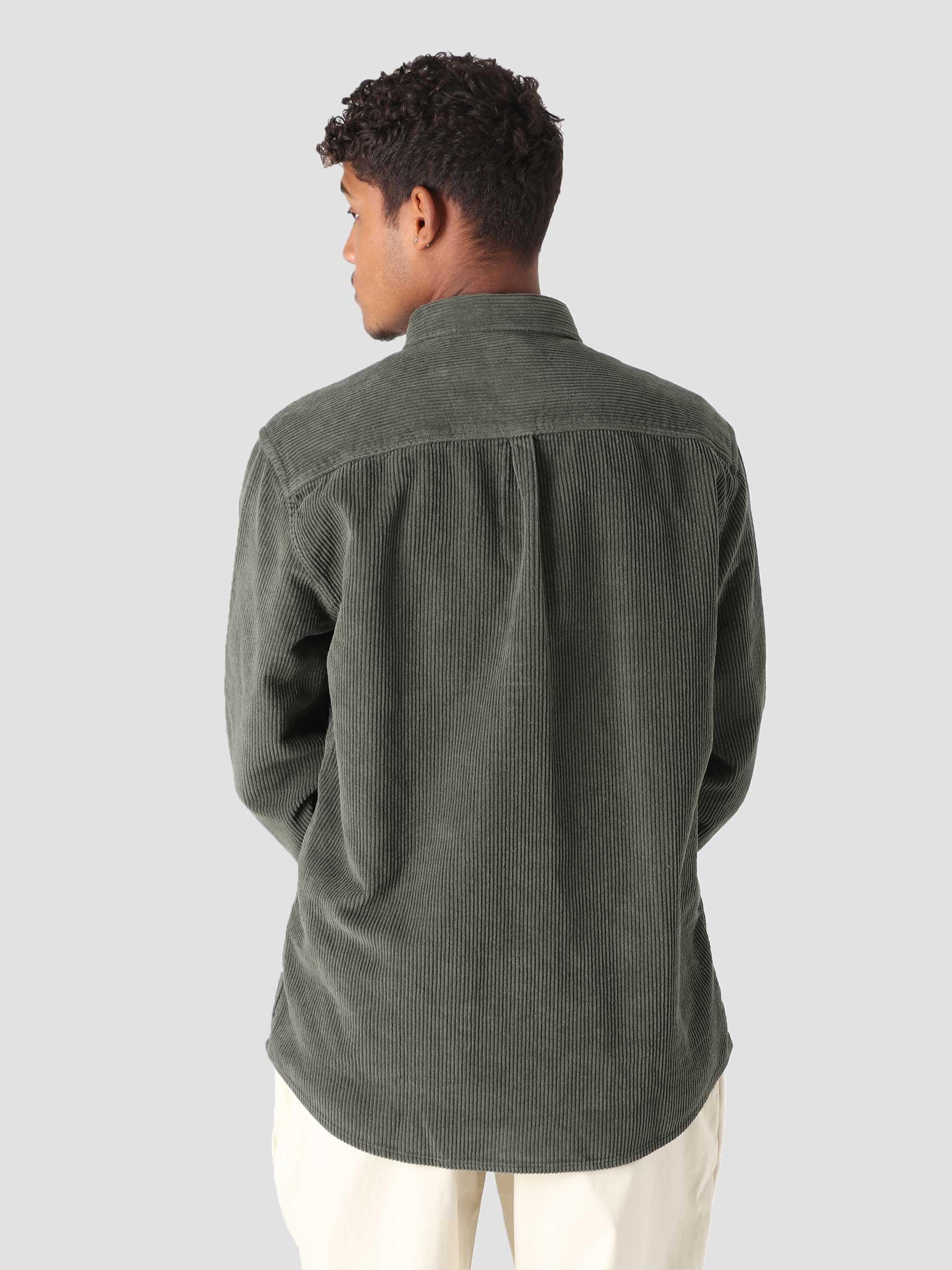 QB41 Cord Shirt Intense Olive