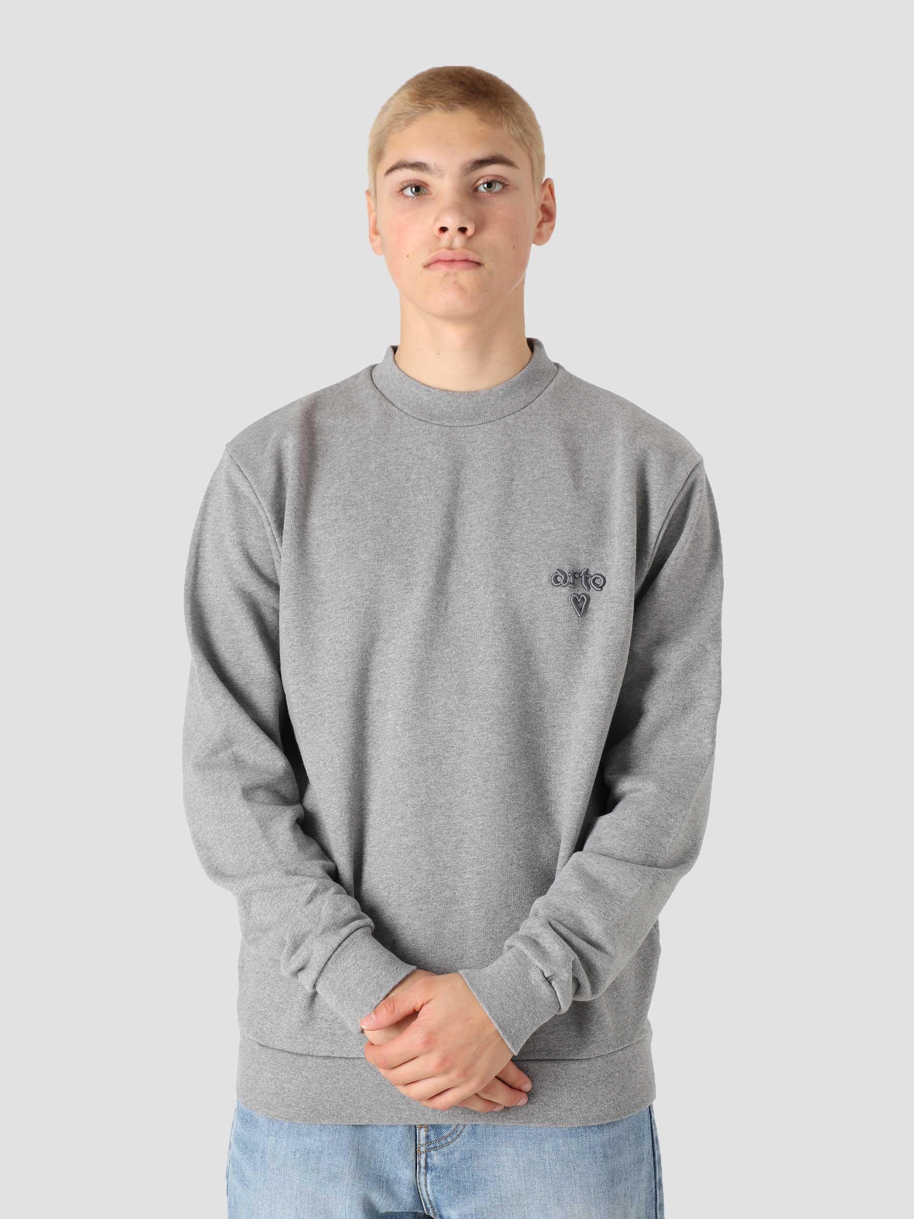 Cassat Heart Logo Sweater Grey AW21-084C