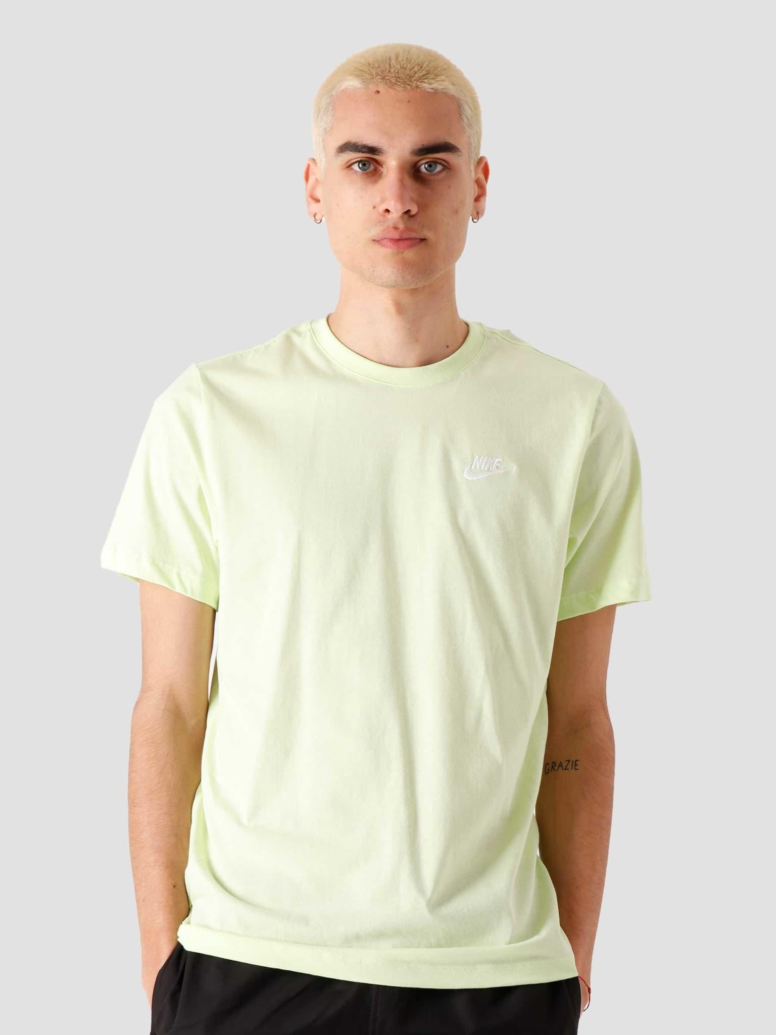 NSW Club T-Shirt Lt Liquid Lime White AR4997-383