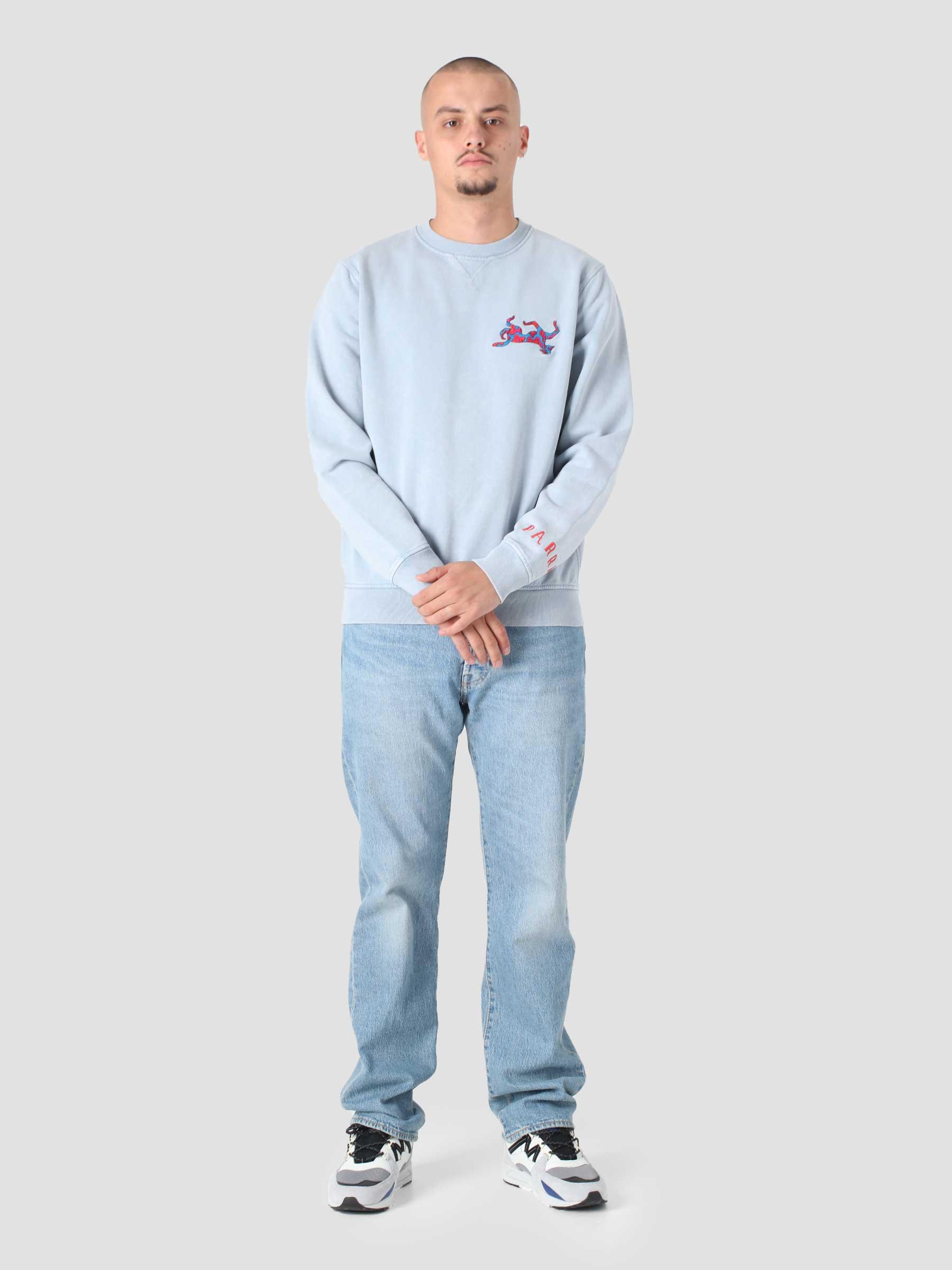 Upside Dog Race Crewneck Sweatshirt Dusty Blue 46320