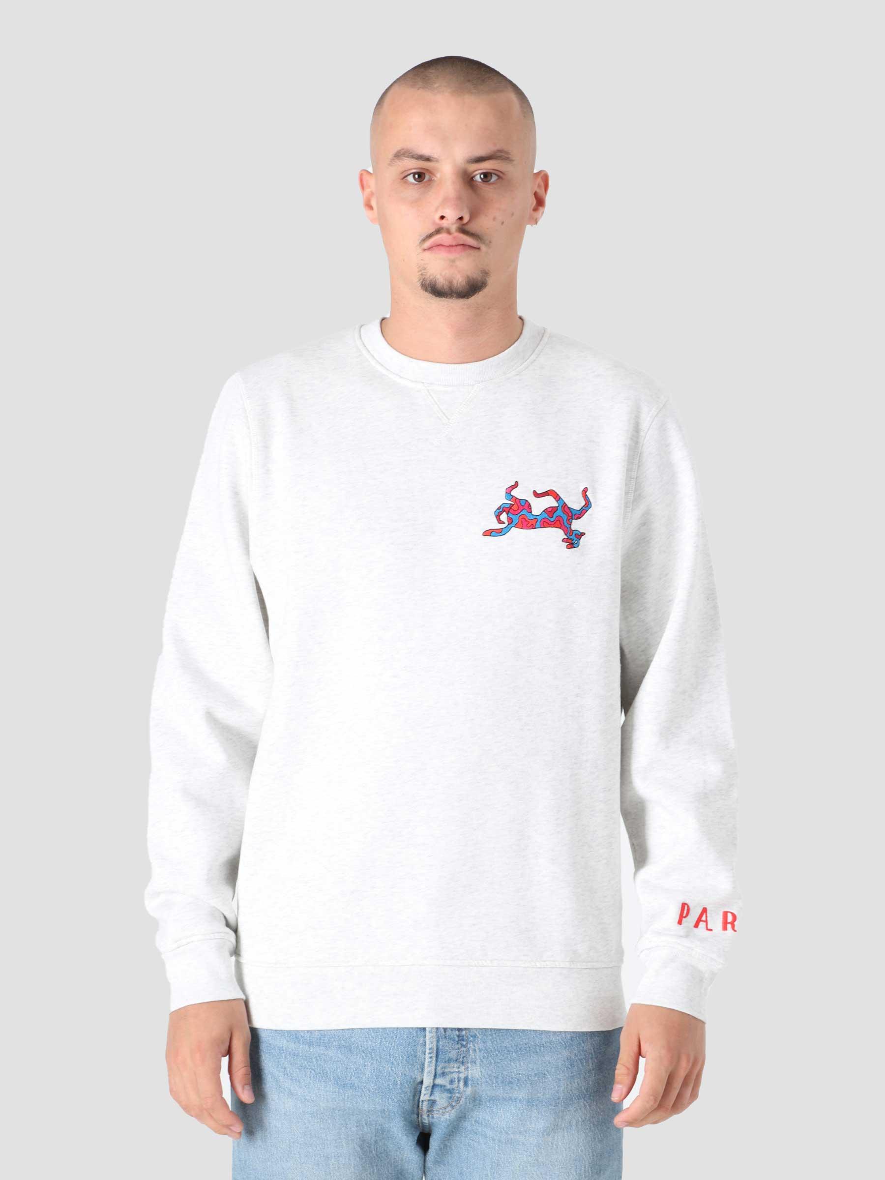 Upside Dog Race Crewneck Sweatshirt Ash Grey 46325