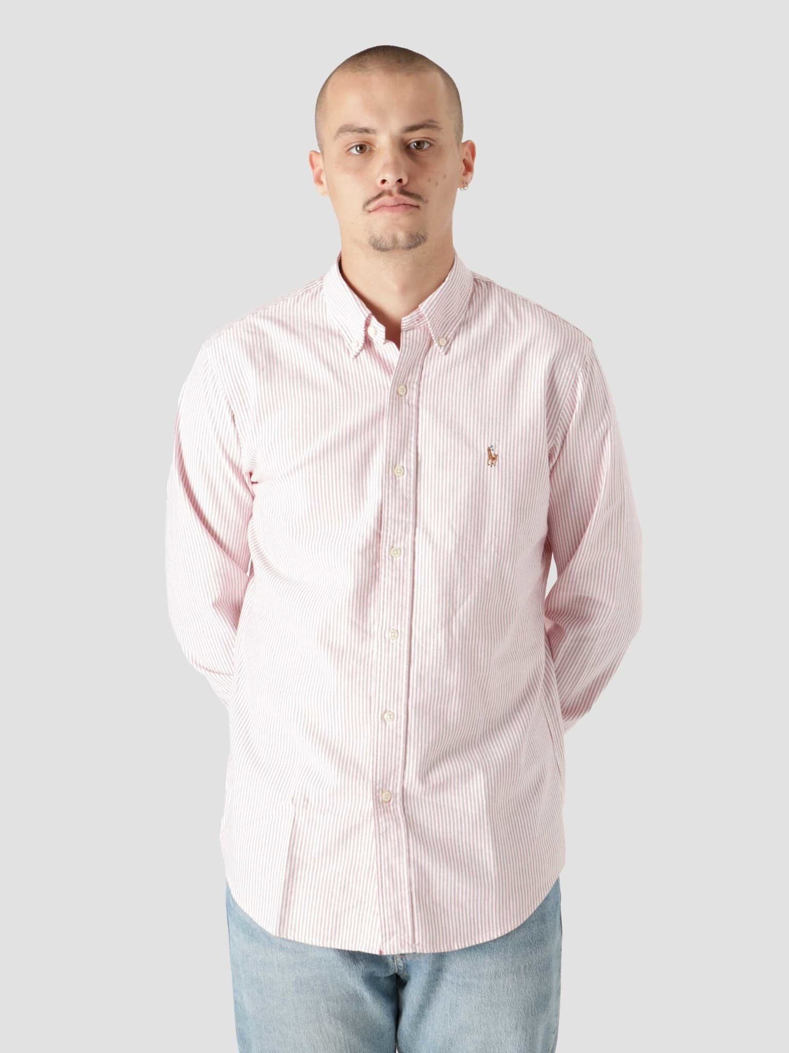 Classic Oxford Shirt 4830B Burgundy White 710853131001