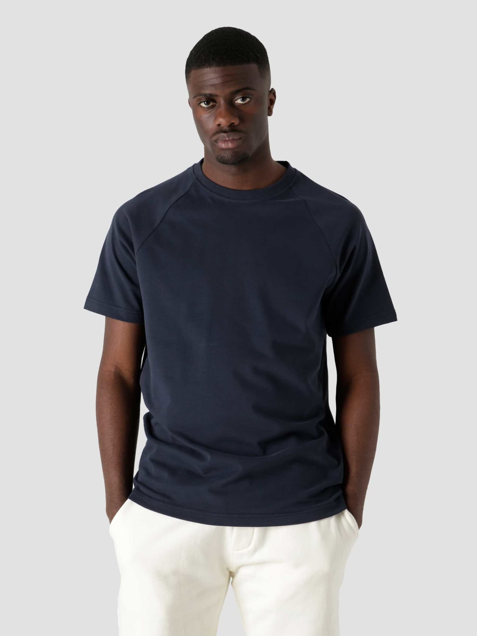 QB302 Heavy Raglan T-shirt Navy