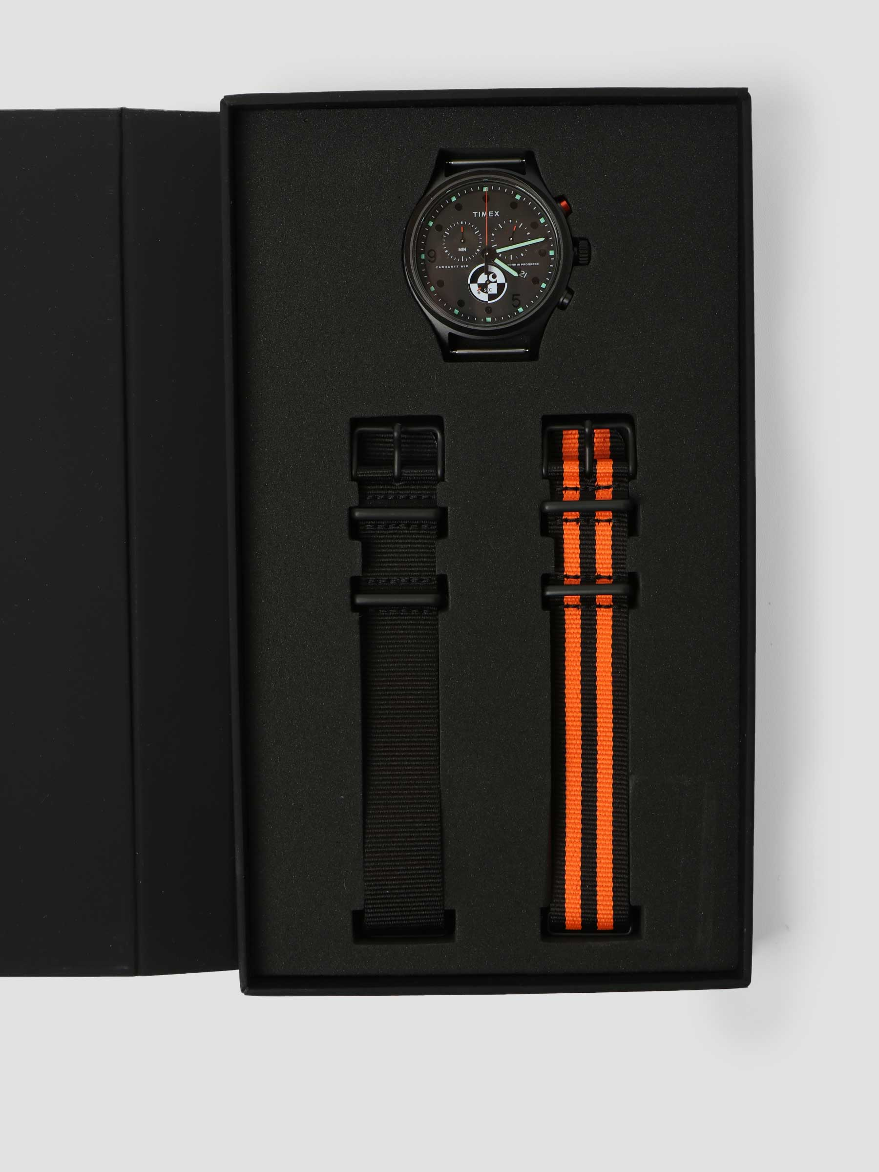 Range C Allied Chronograph Black Carhartt Orange Glow in the Dark I029862