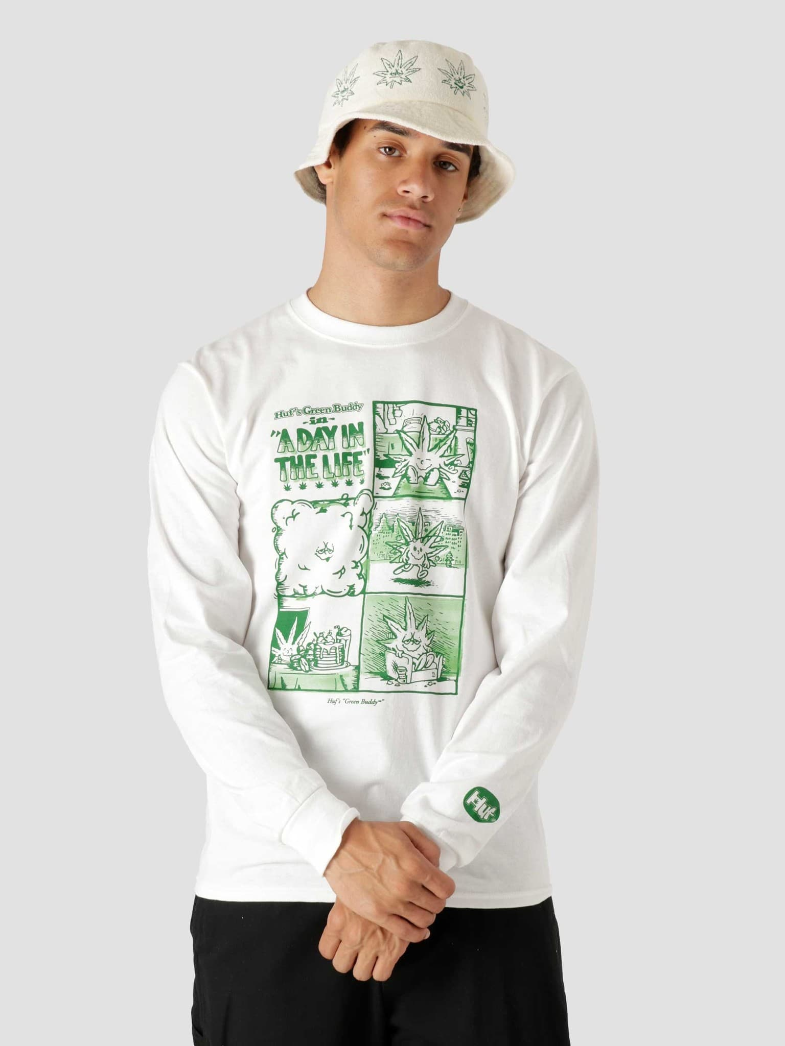Day In The Life Longsleeve T-Shirt White TS01604