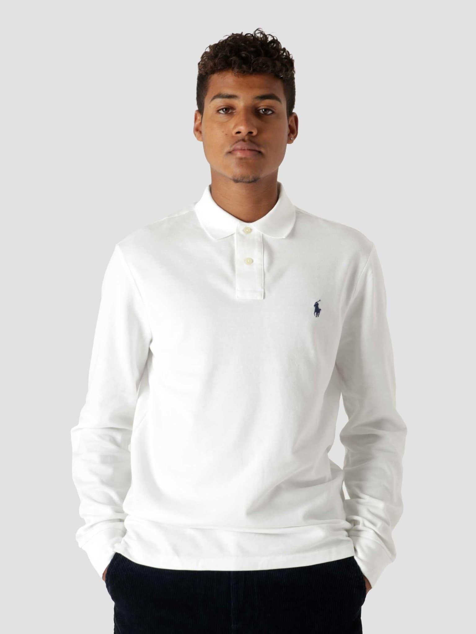 Longsleeve Polo White 710680790001