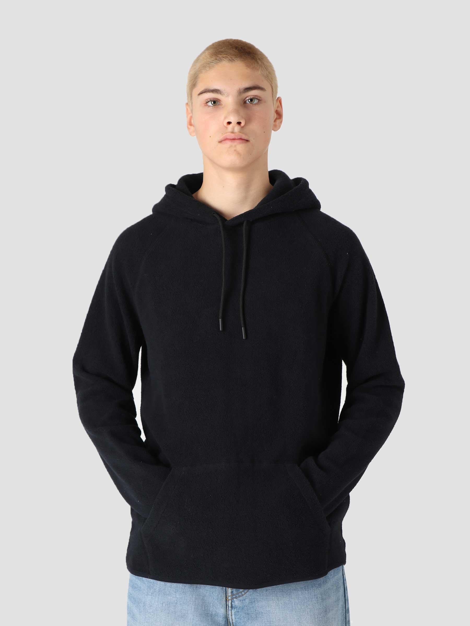 QB933 Raglan Fleece Hoodie Black