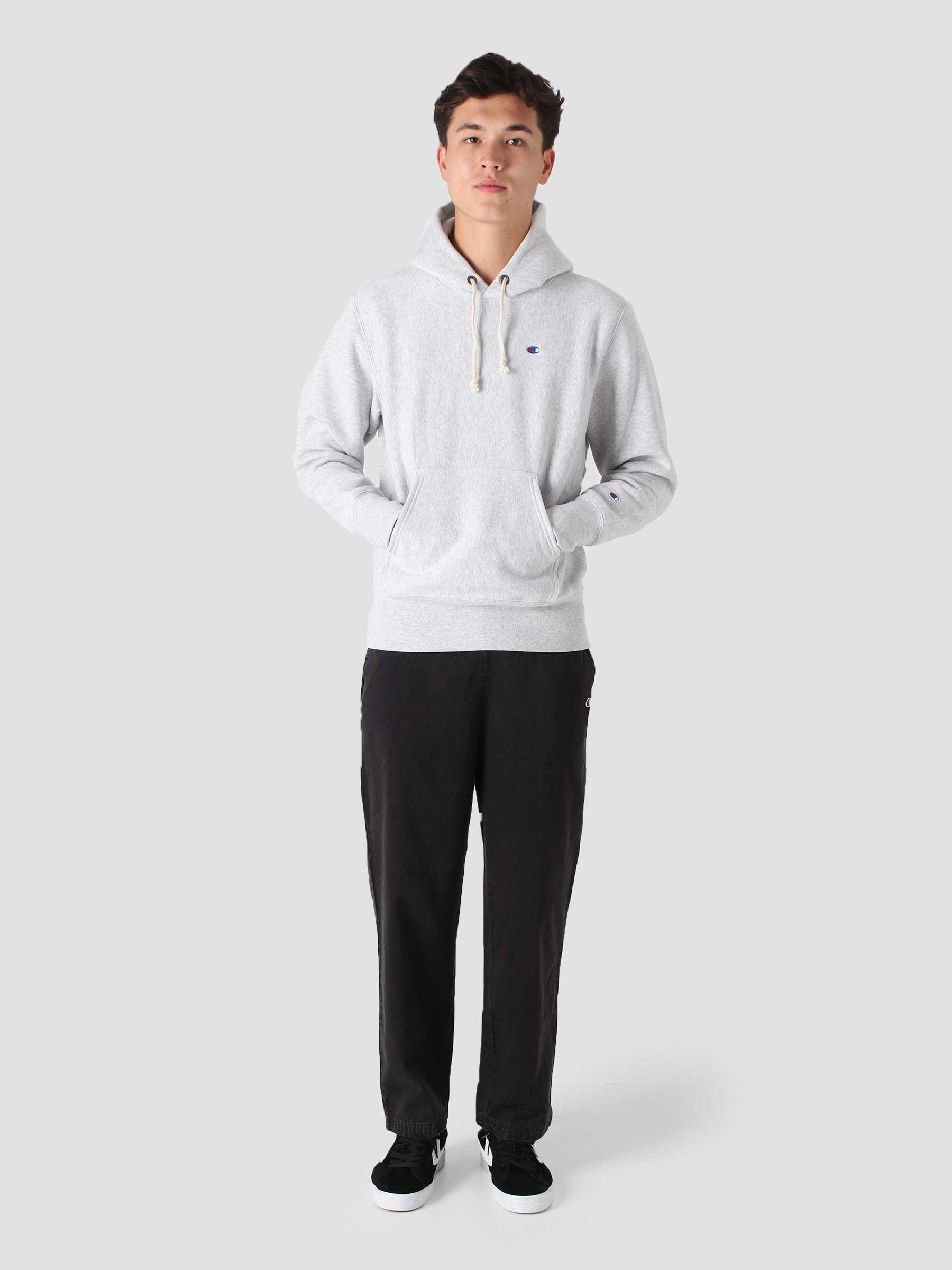 Reverse Weave Soft Fleece Hoodie Grey COKFQ7-EM004