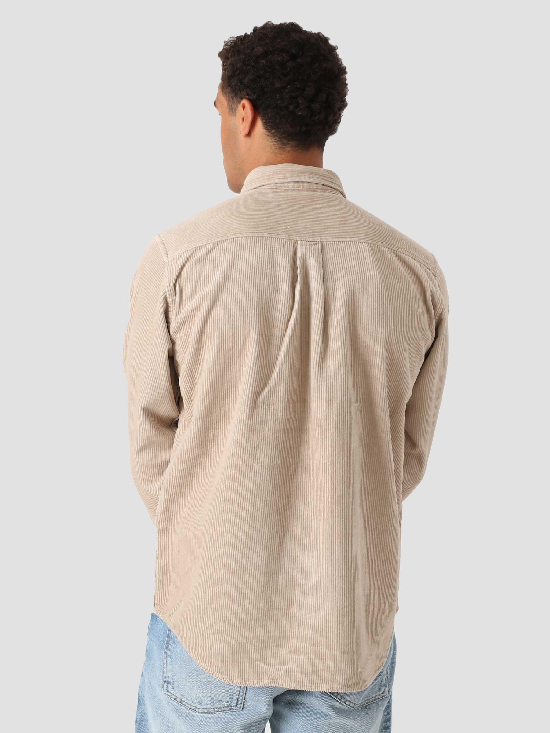Longsleeve Madison Cord Shirt Wall Black I029958
