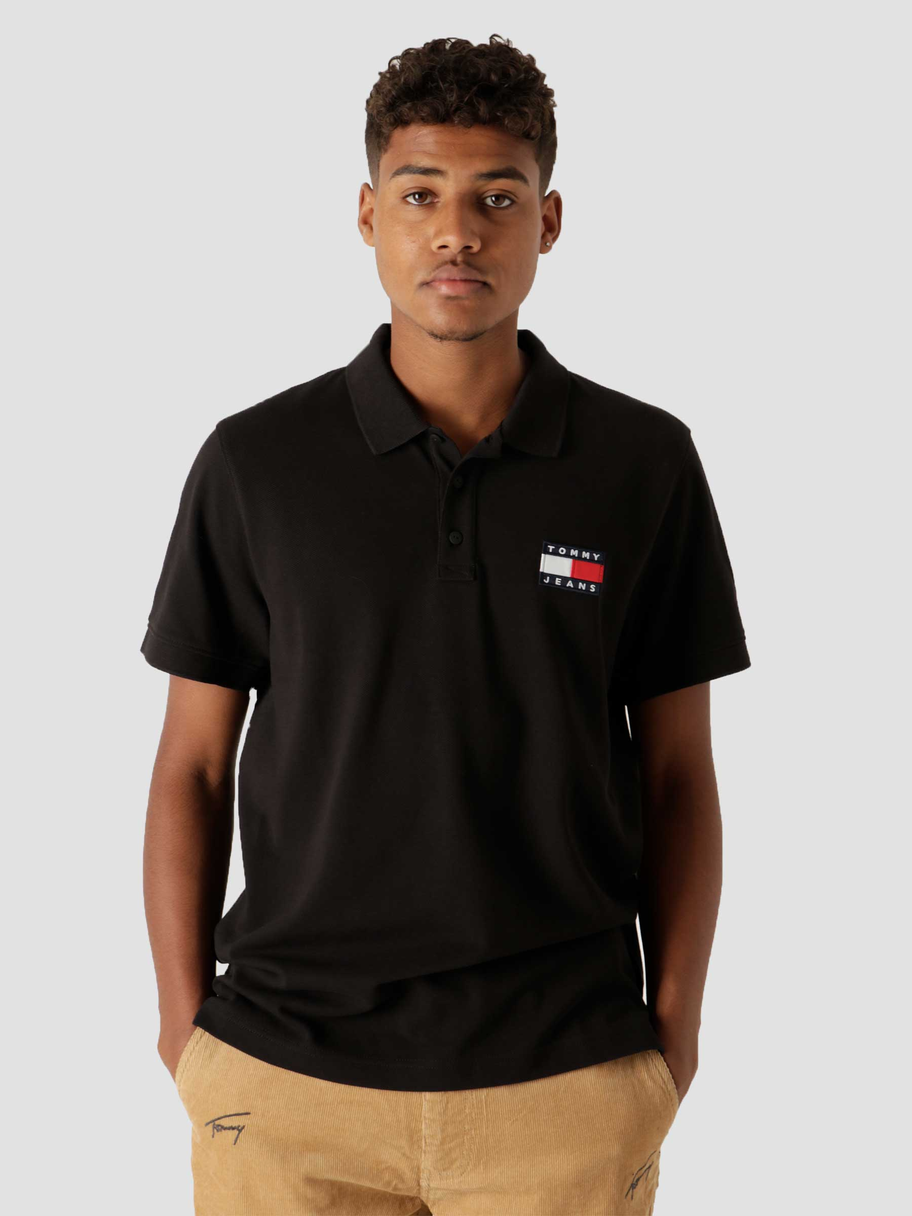 Tommy Badge Polo Black DM0DM09444-BDS