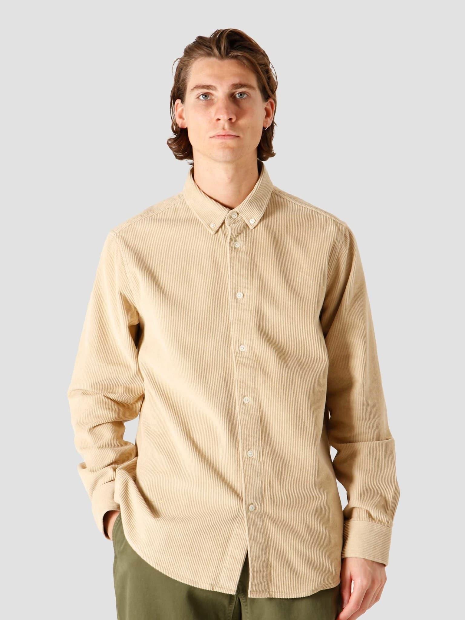 QB41 Cord Shirt Sand