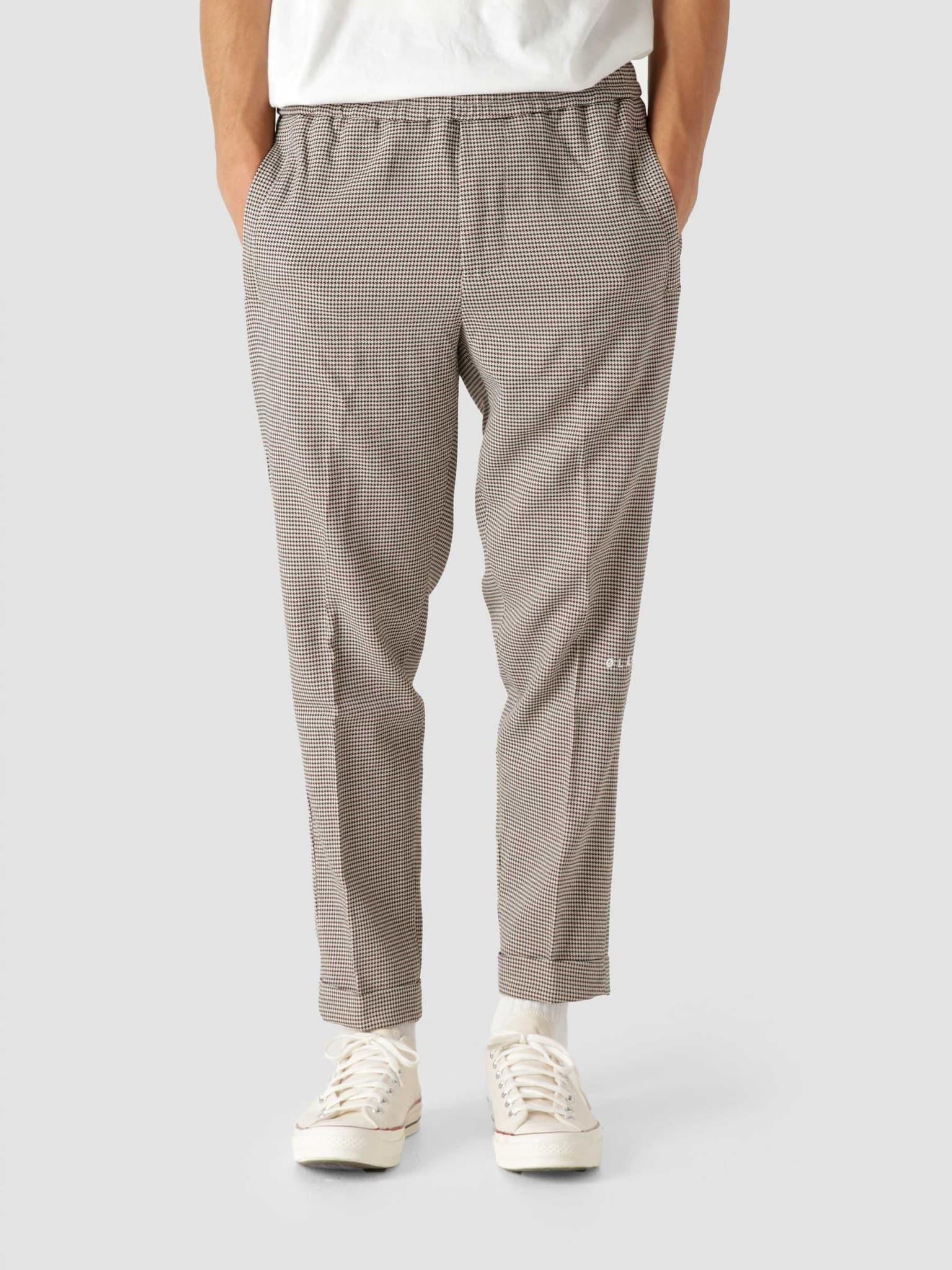 OLAF Slim Elasticated Trousers Houndstooth