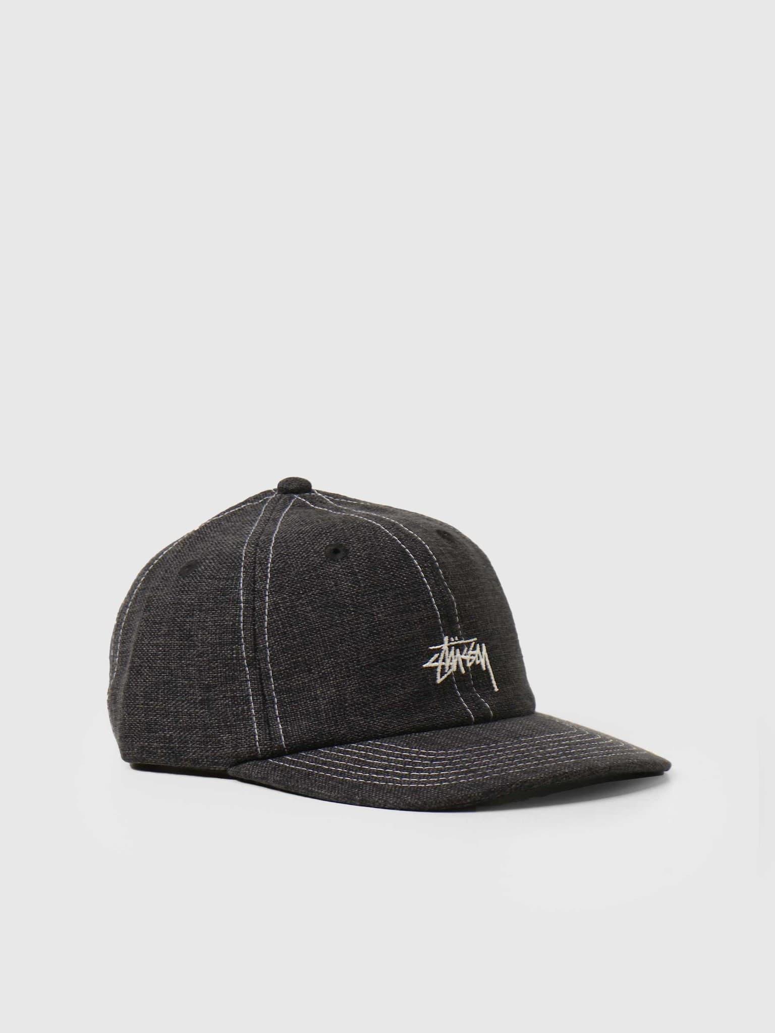 Loose Weave Stock Strapback Black 131997