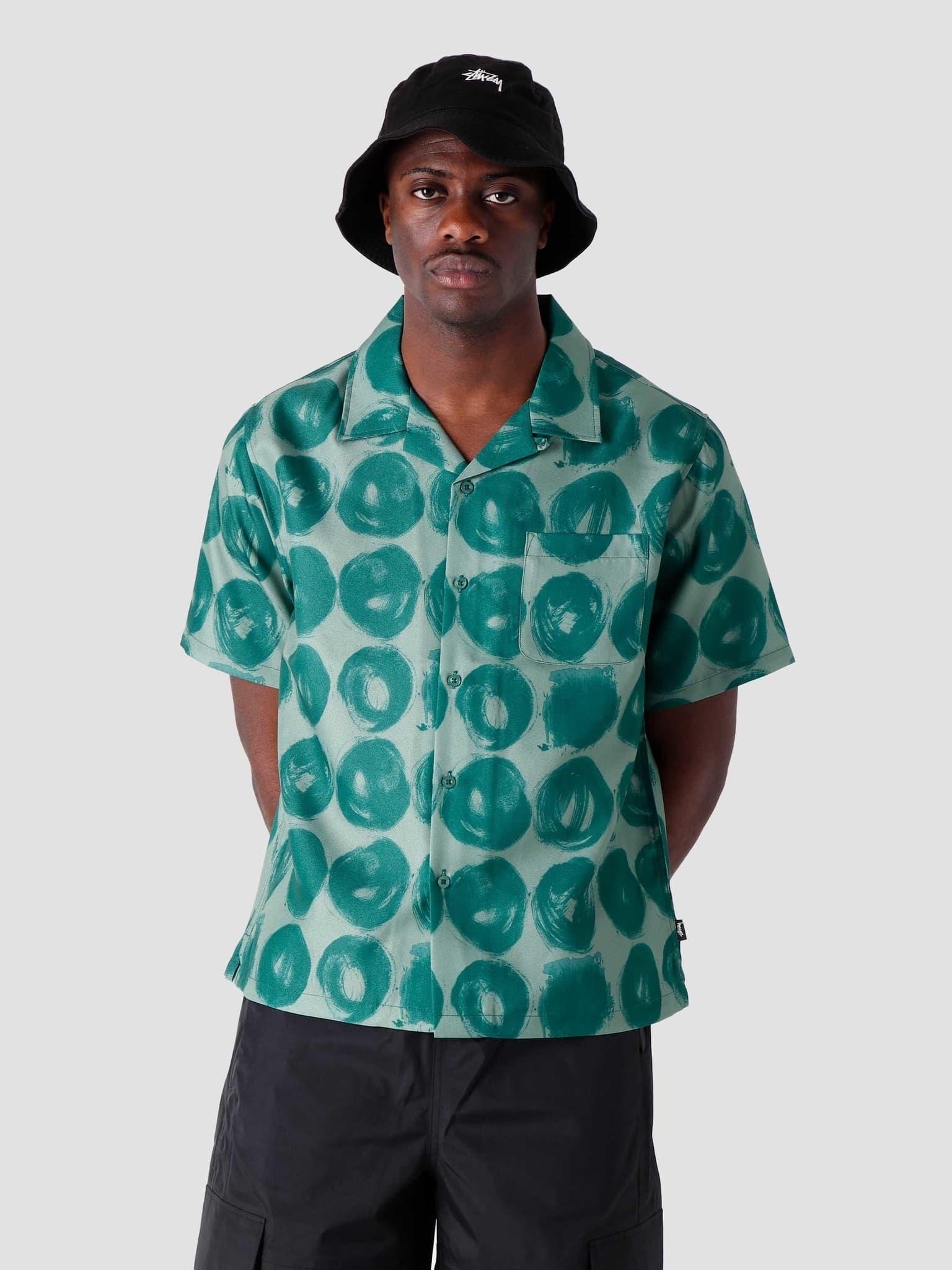 Hand Drawn Dot Shirt Green 1110158-0401