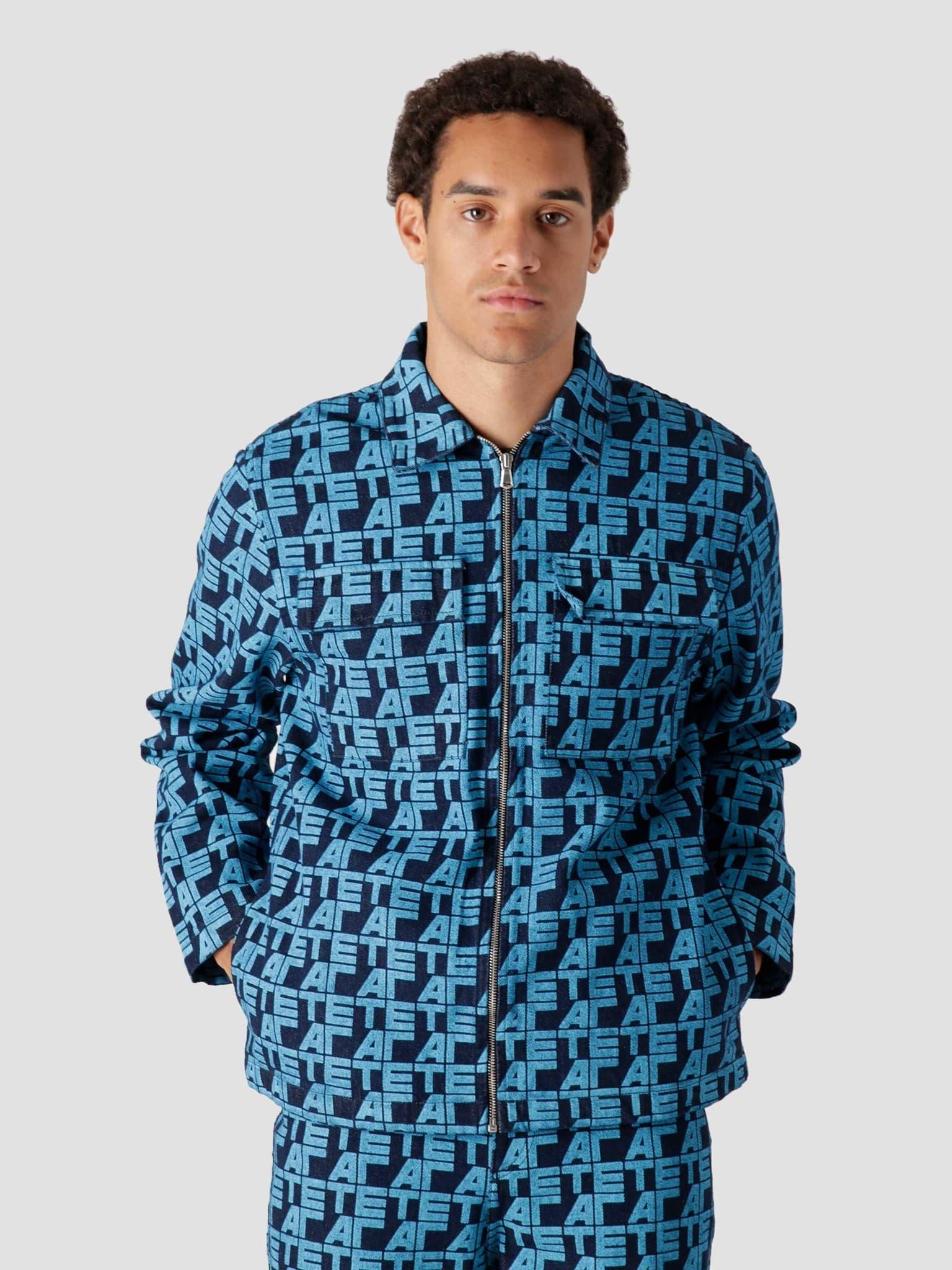 Jean Allover Jacket Jacket Denim Printed AW21-036J