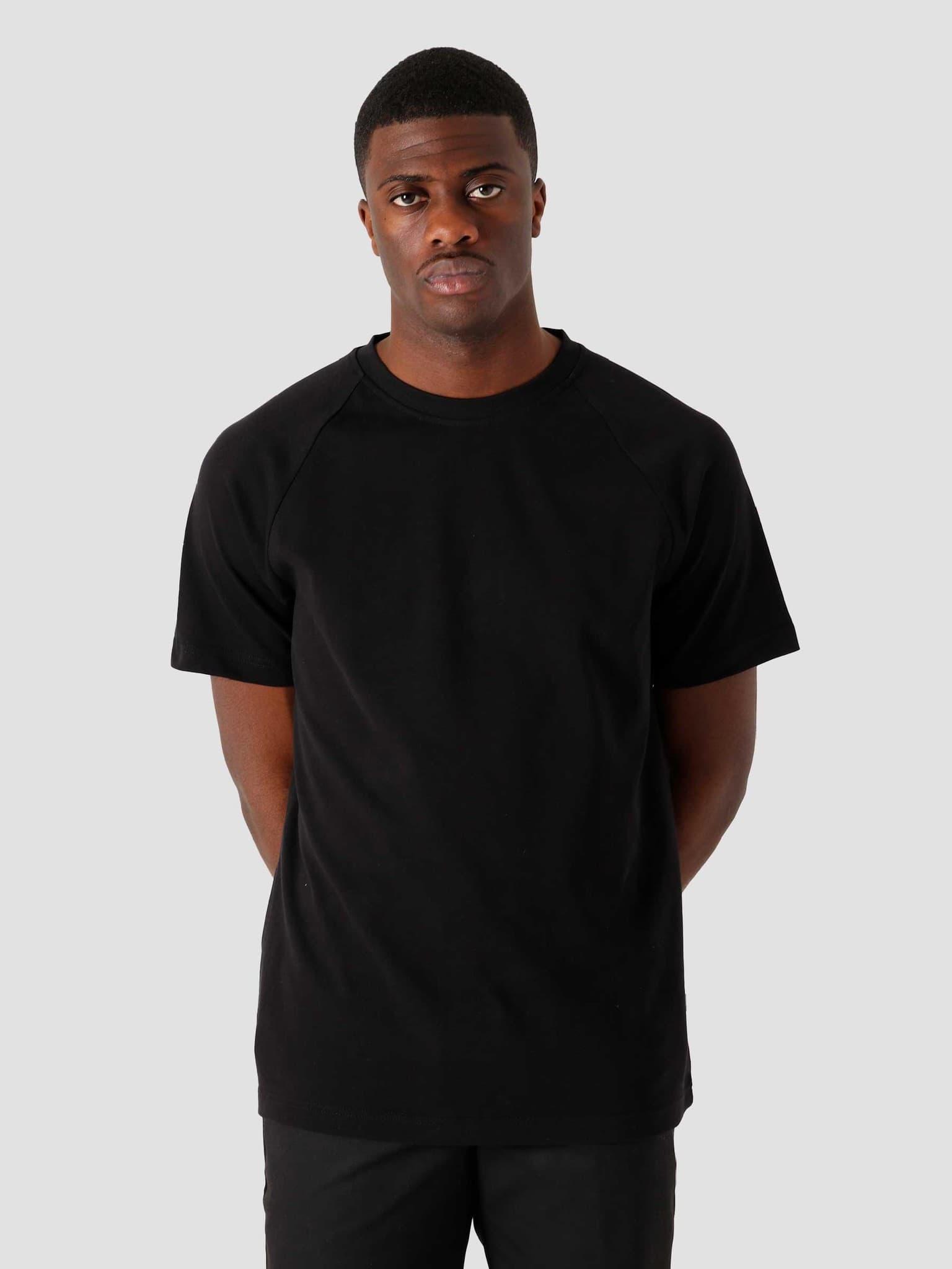 QB302 Heavy Raglan T-shirt Black