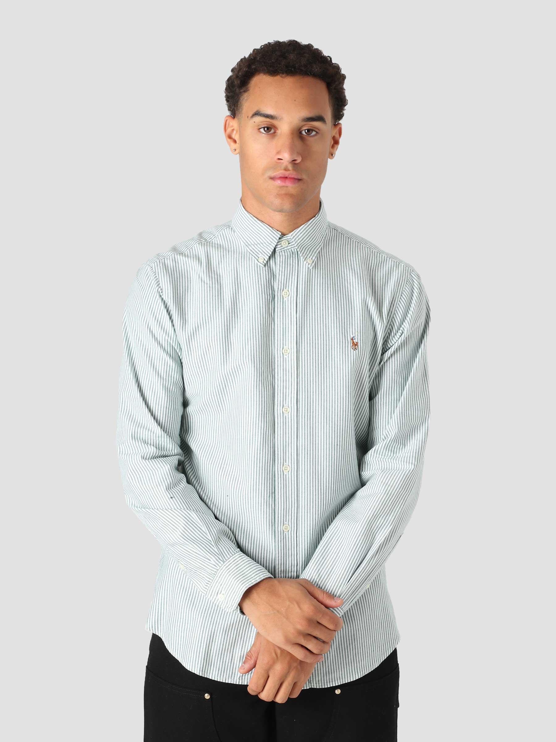 Classic Oxford Shirt 4830C Green White 710853126001
