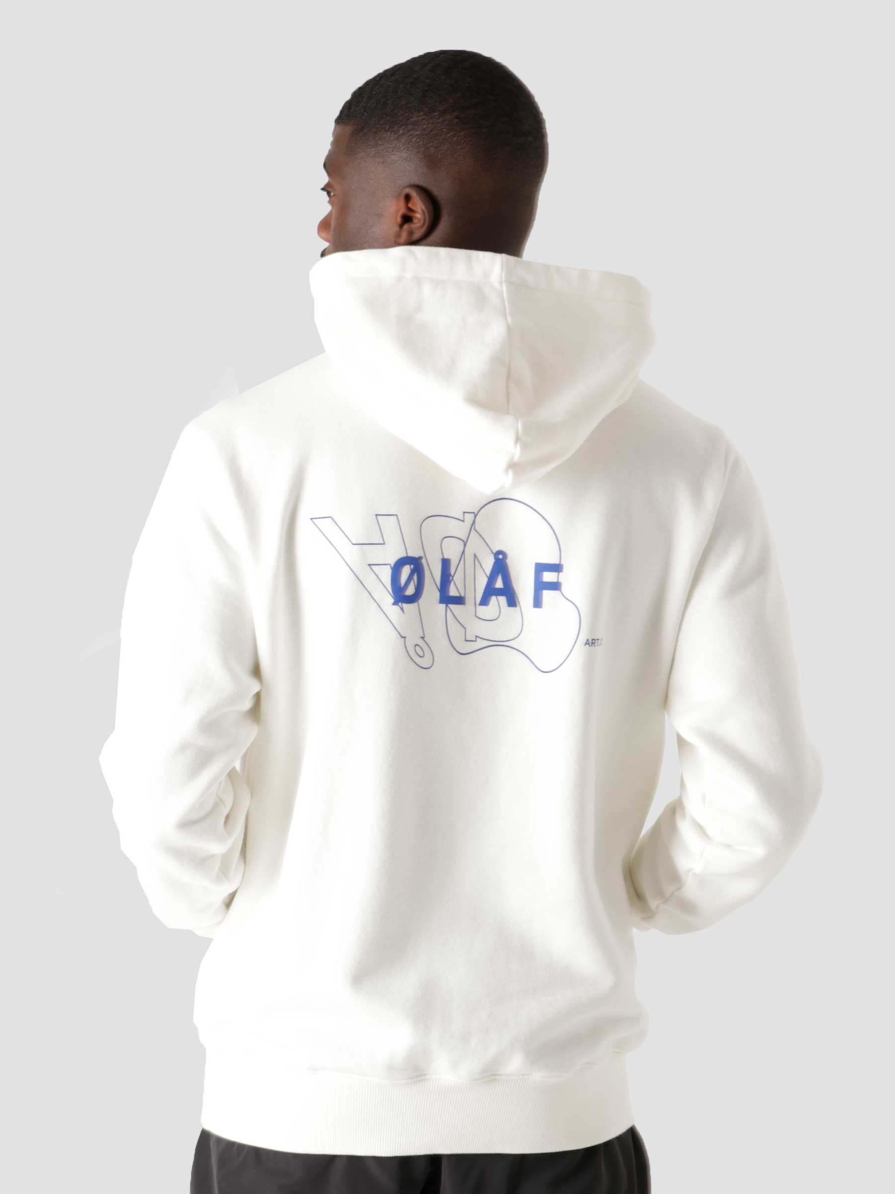 OLAF Double Mirror Hoodie White