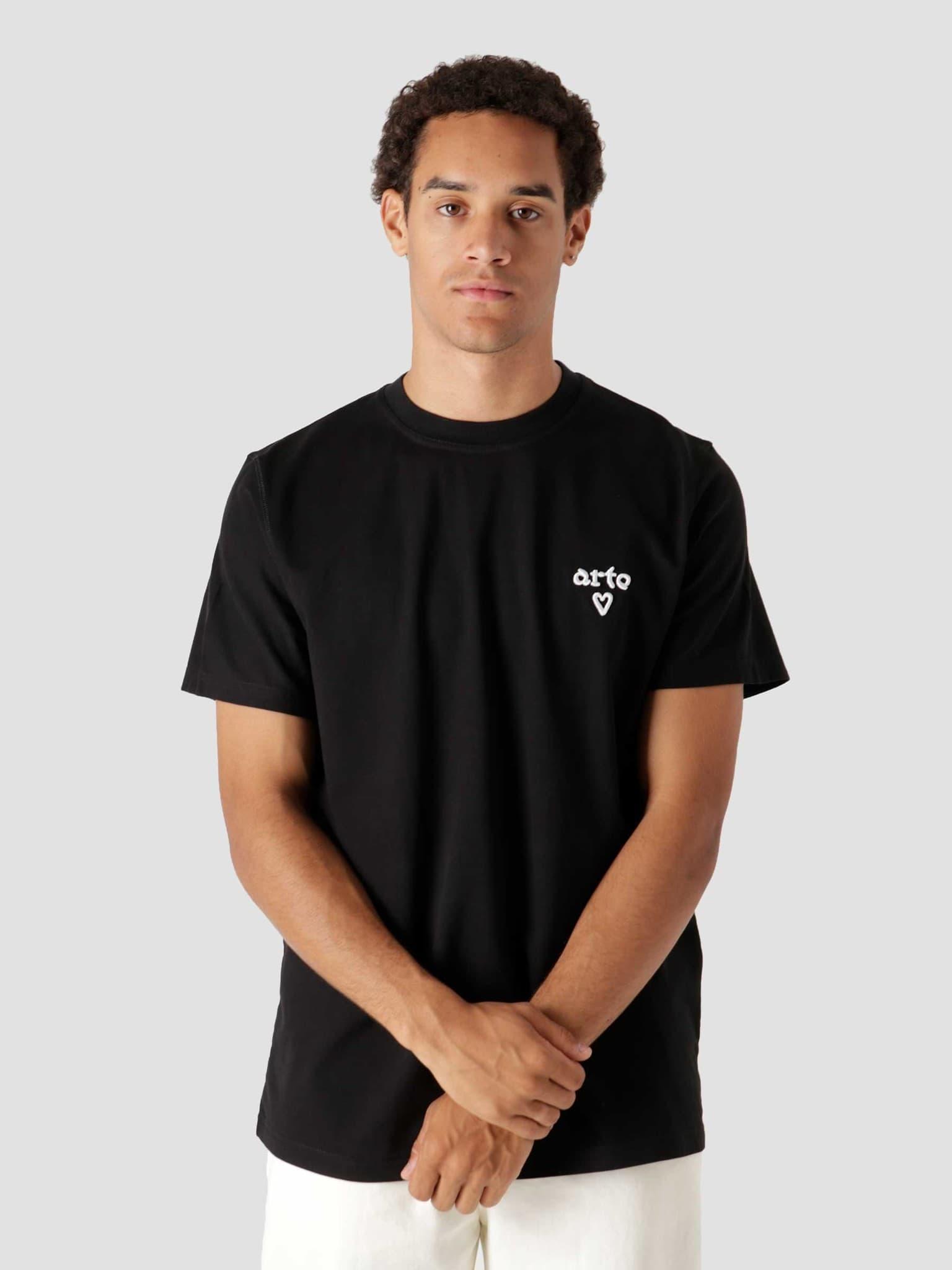 Tissot Heart T-Shirt Black AW21-067T