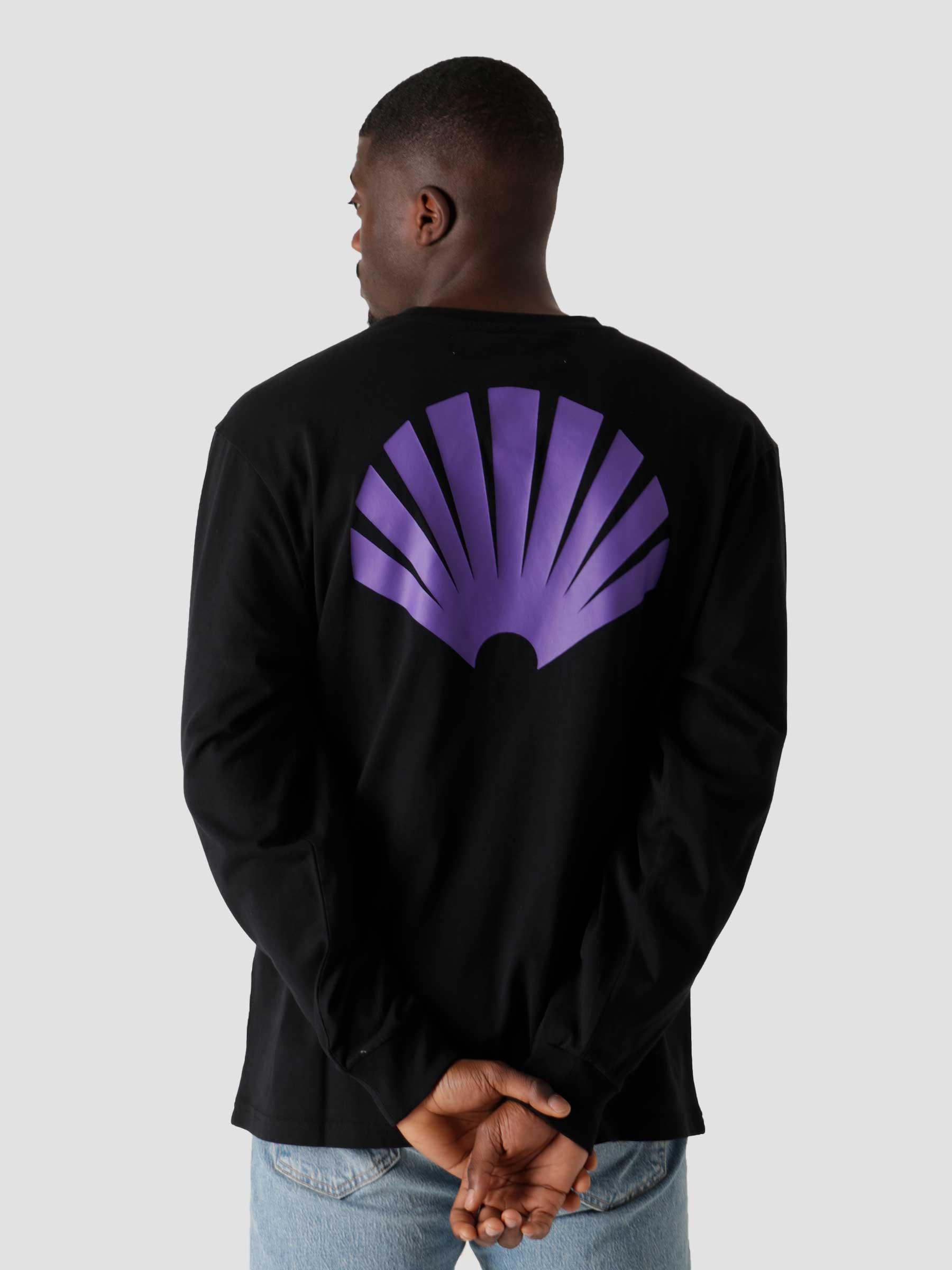 Logo Longsleeves Black Prism Violet 2021235