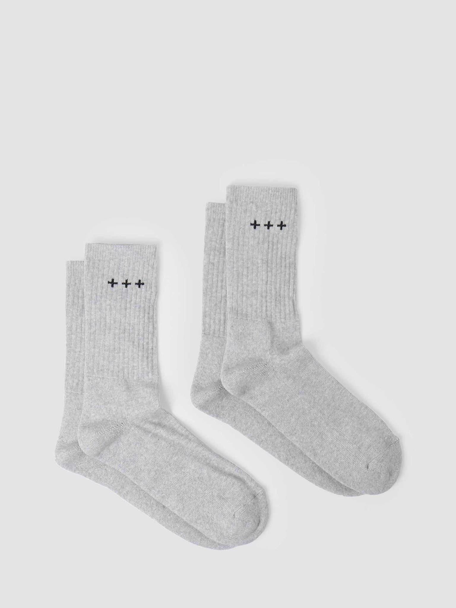 QB13 2 Pack Logo Socks Grey