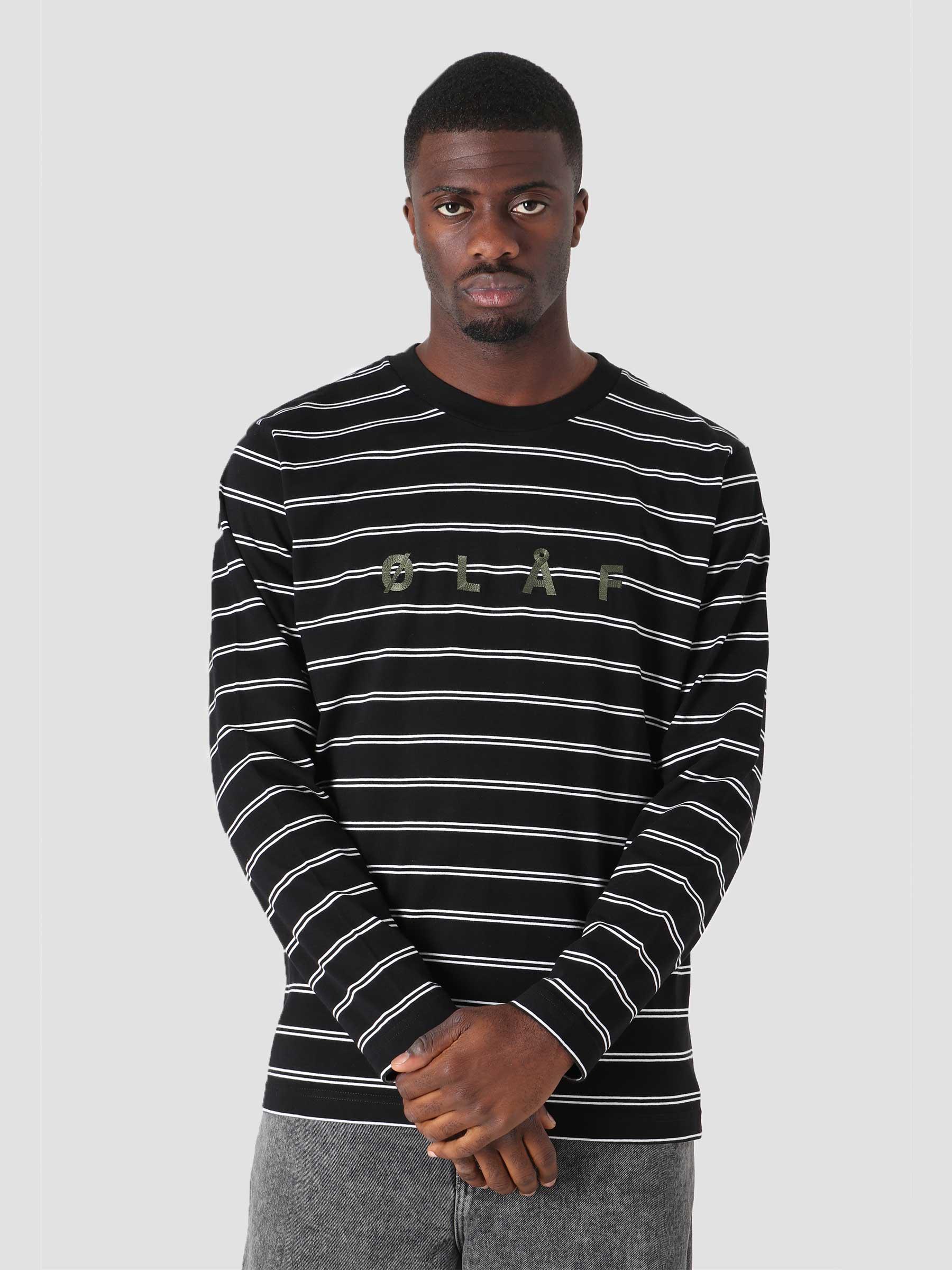 OLAF Mini Stripe Longsleeve Black White
