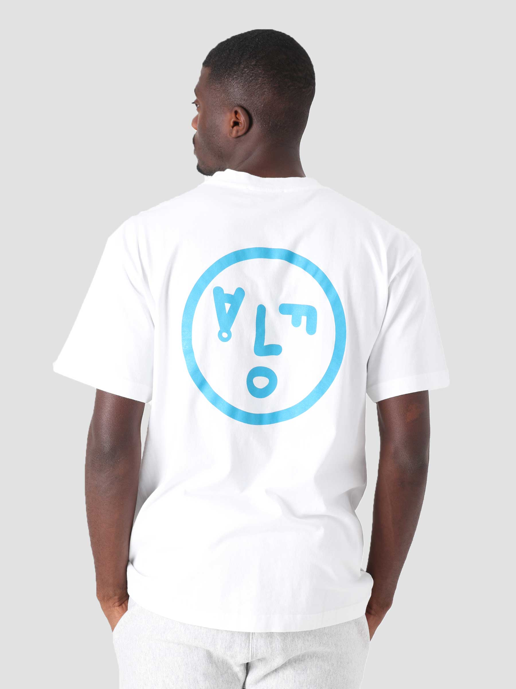 OLAF Face T-Shirt White Blue