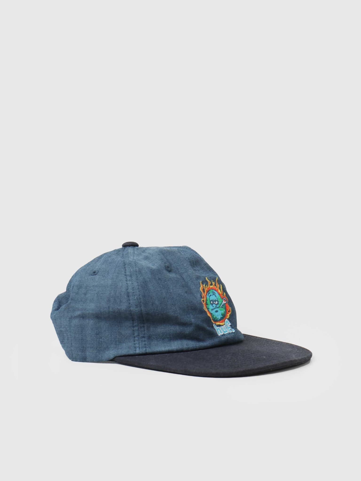 Global Warming 6 Panel Hat Blue Chambray HT00553