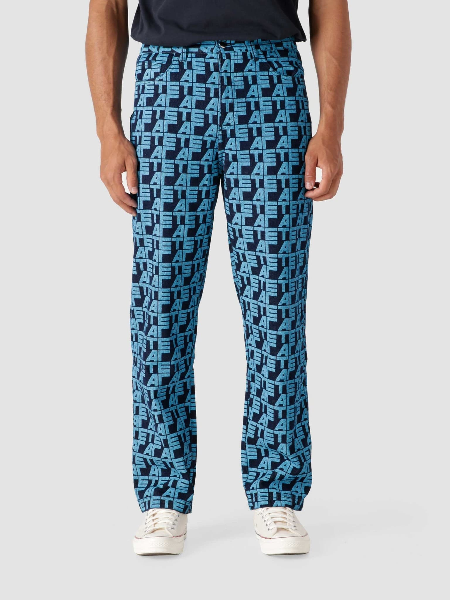 Jean Allover Pants Pants Denim Printed AW21-037P