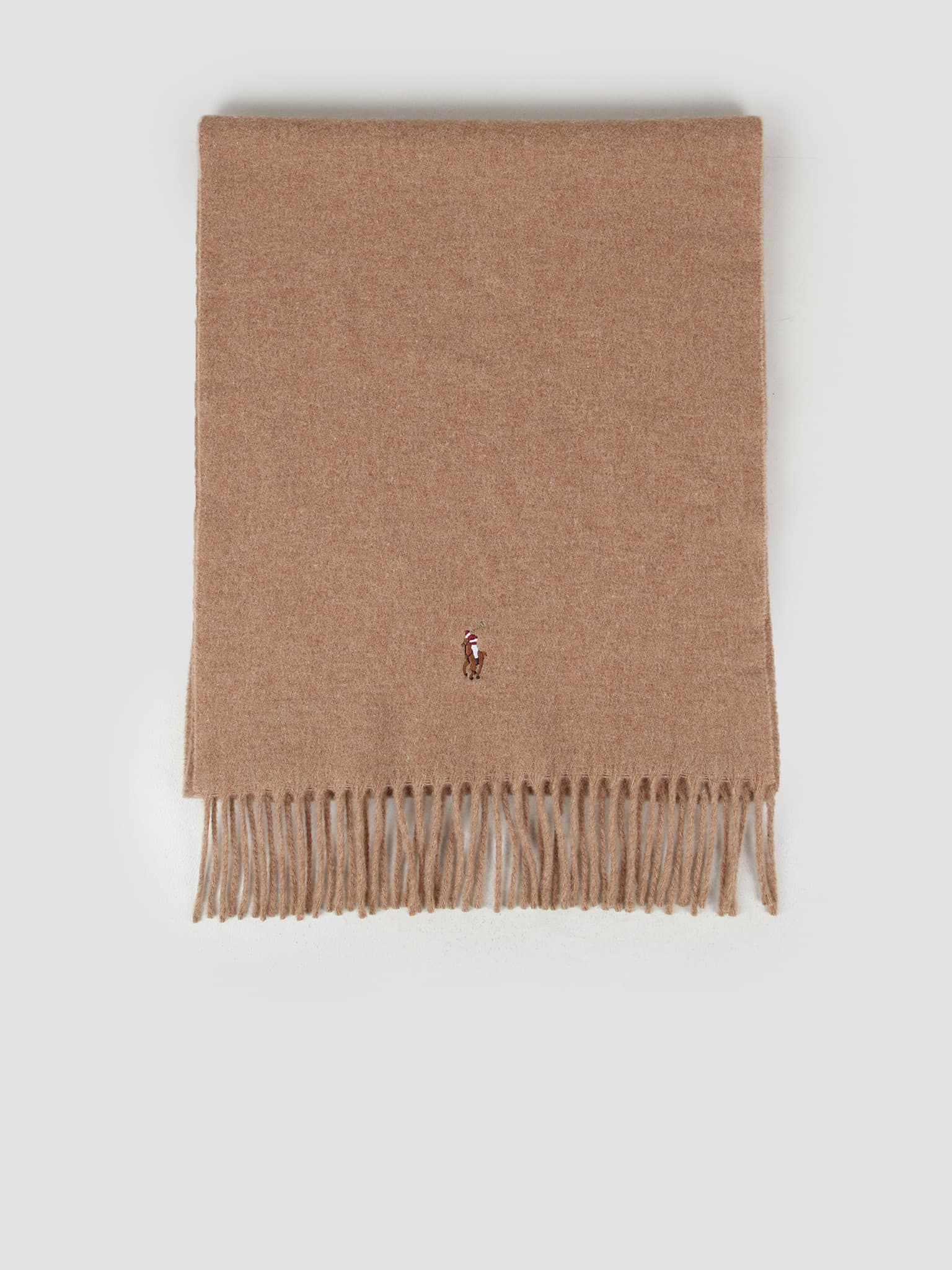Sign It Wool Oblong Scarf Brown 449727530004