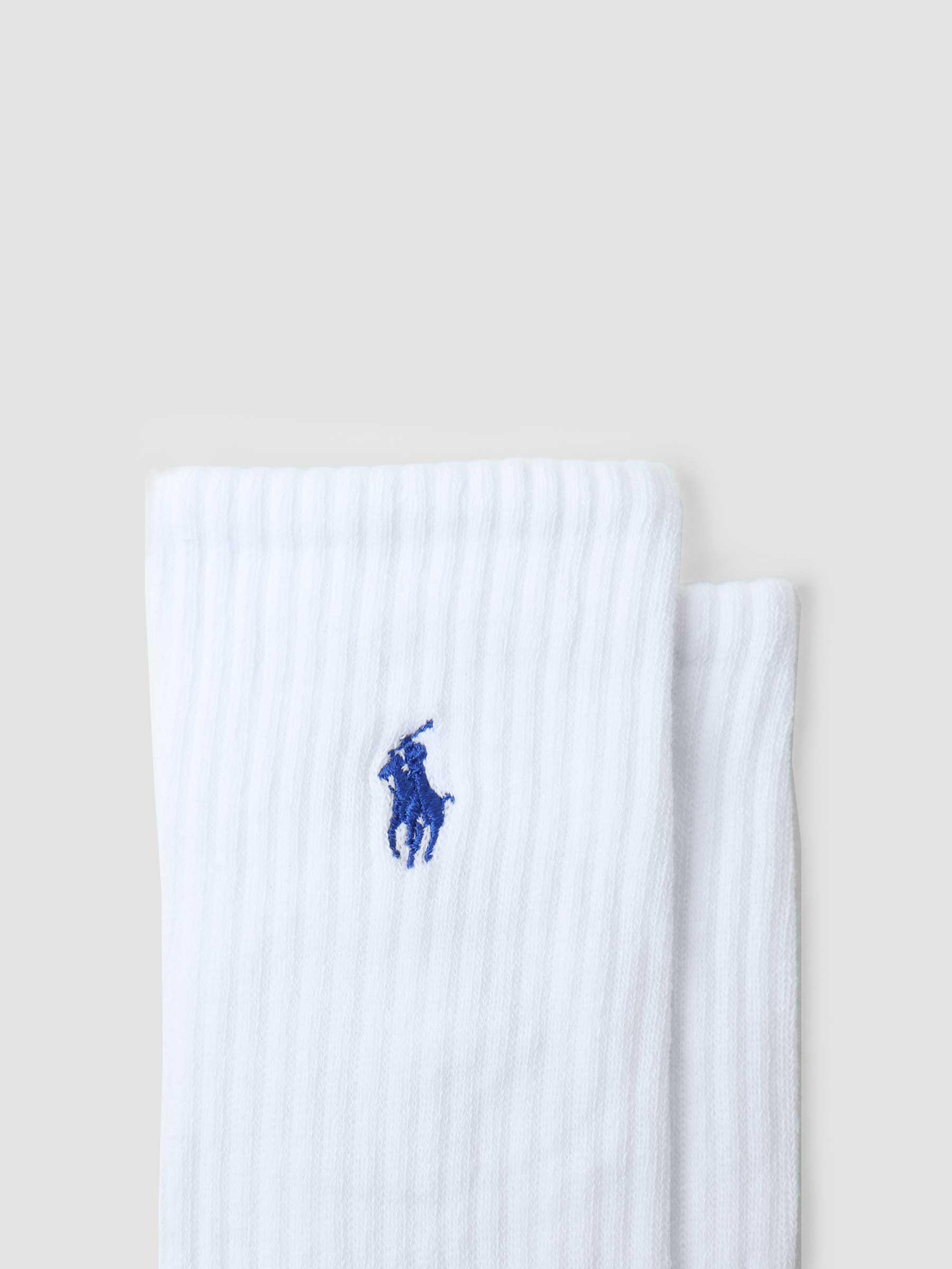 6 Pack Crew Socks White Colored PP 449799740002